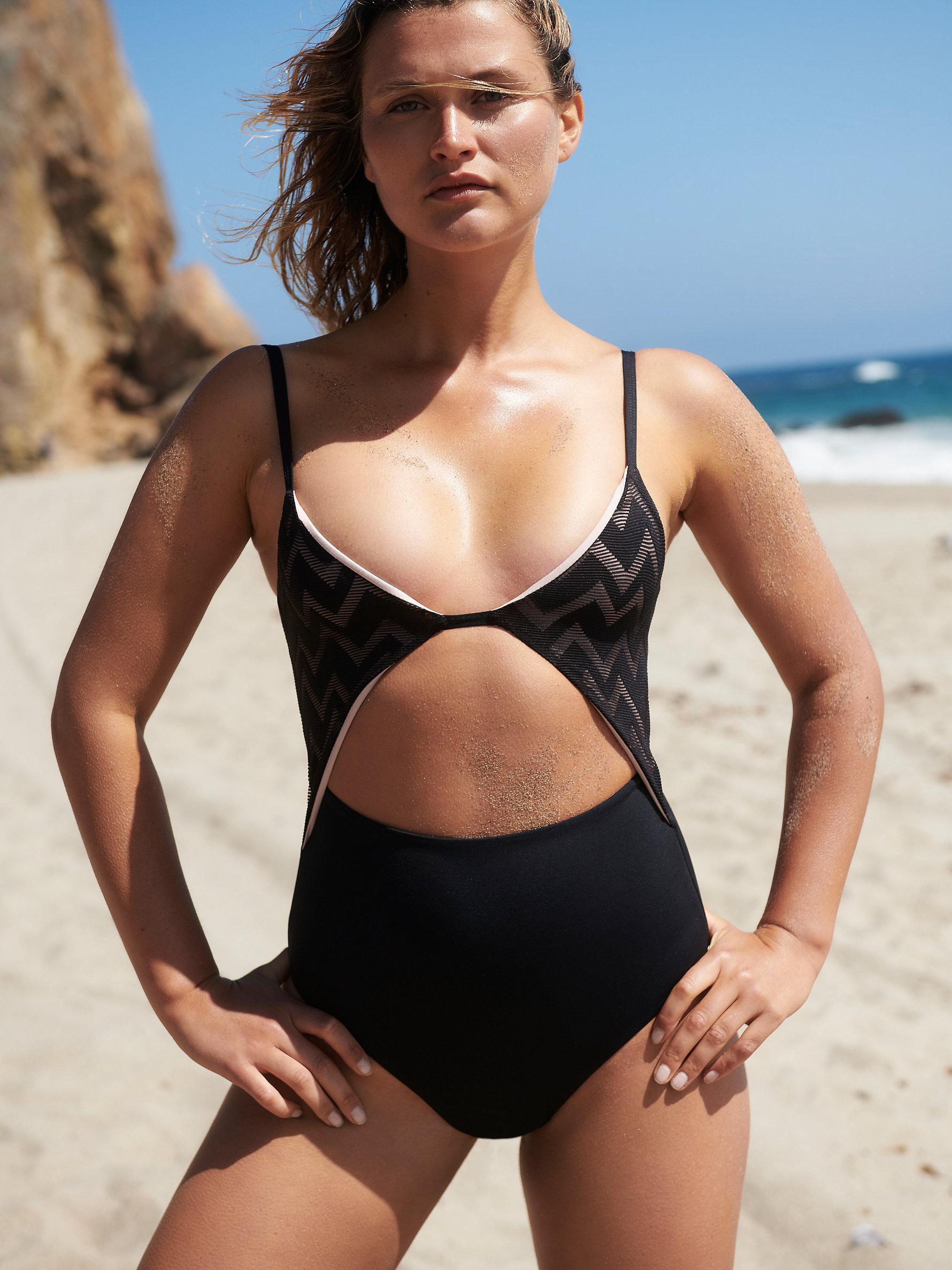f0fe750ce8a Free People Penelope One-piece Swimsuit in Black - Lyst