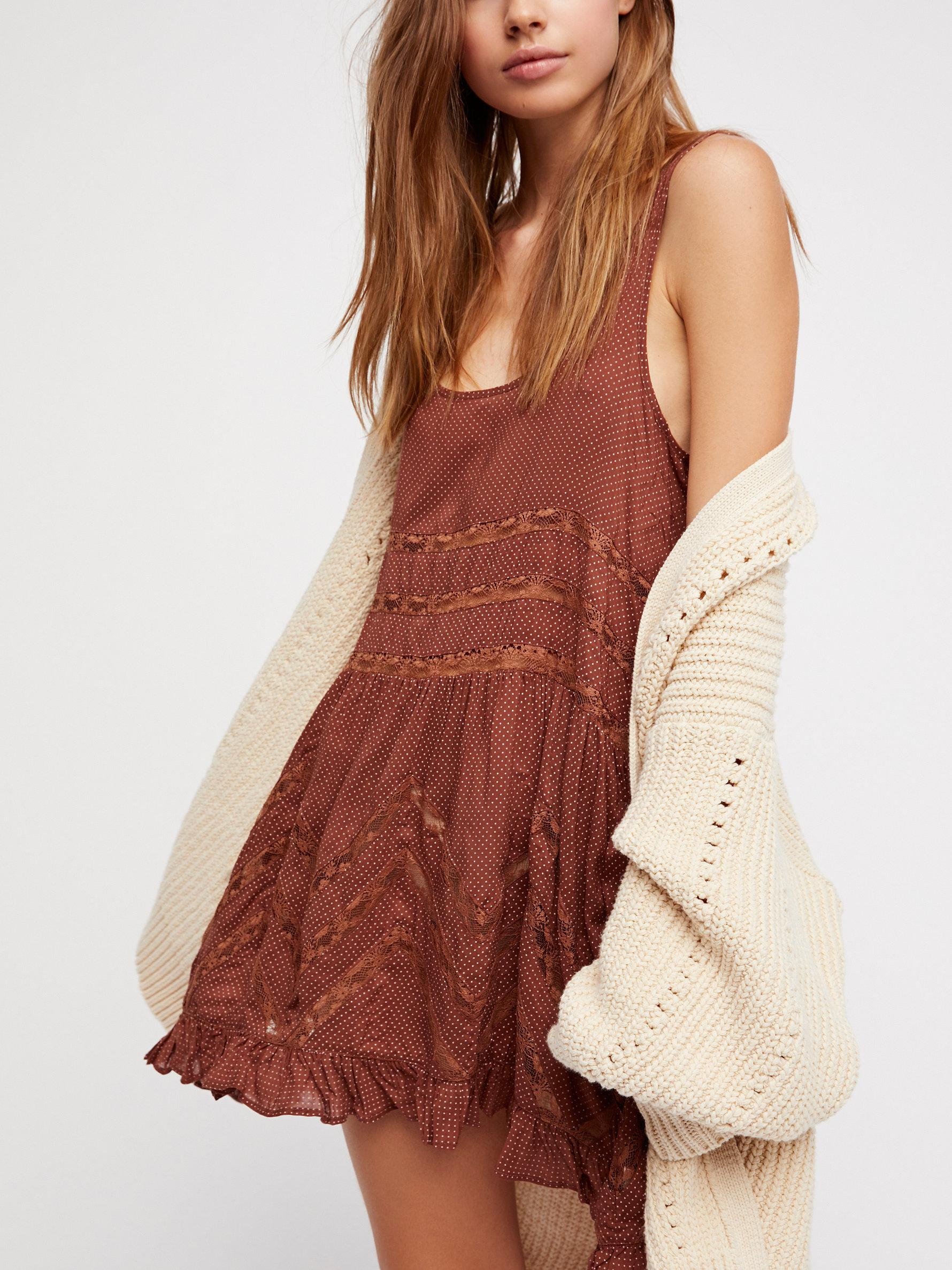 bf177aeda9f5 Lyst - Free People Voile And Lace Trapeze Slip