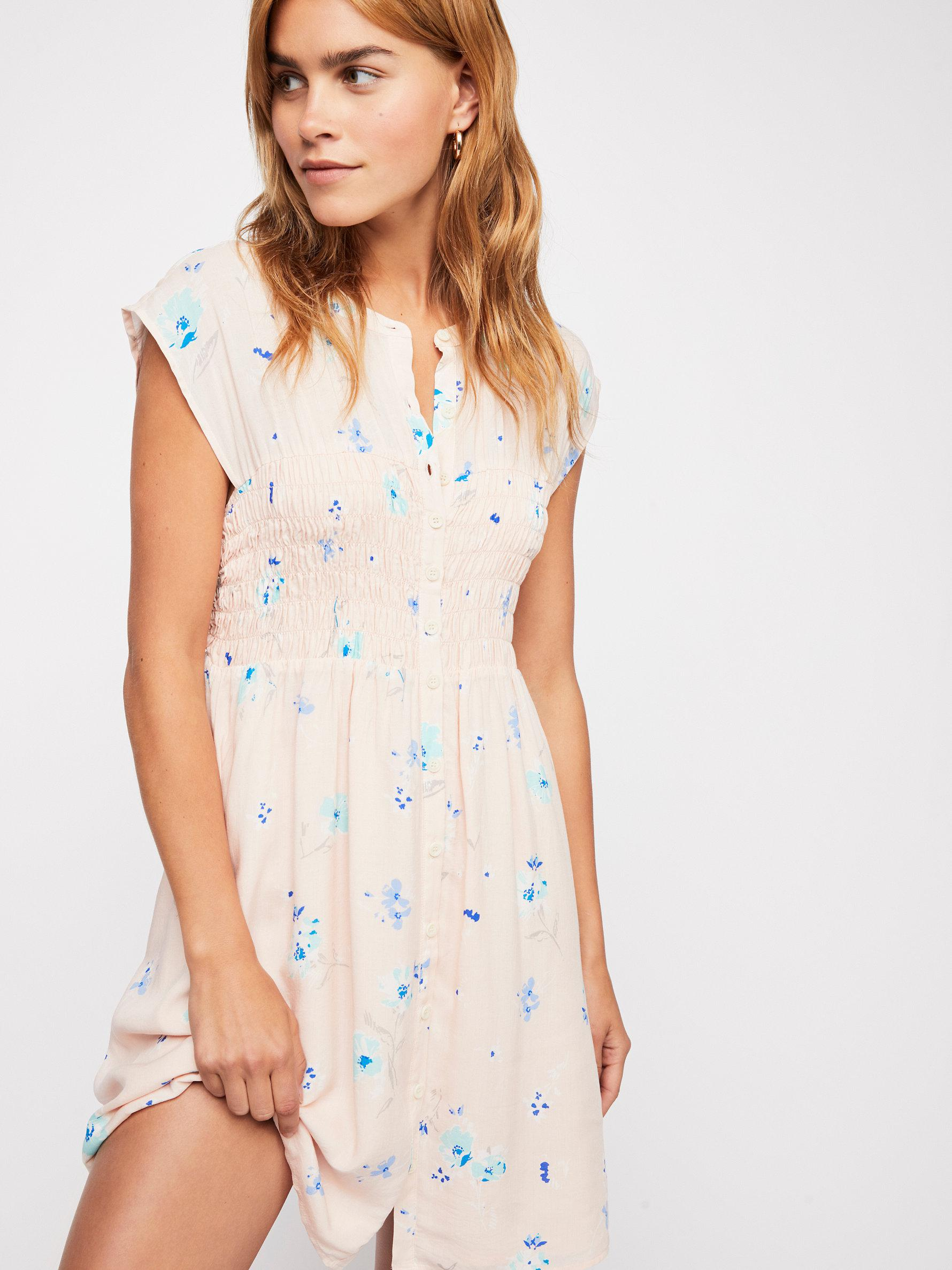 1c509bc7e095 Free People Greatest Day Smocked Mini Dress - Lyst