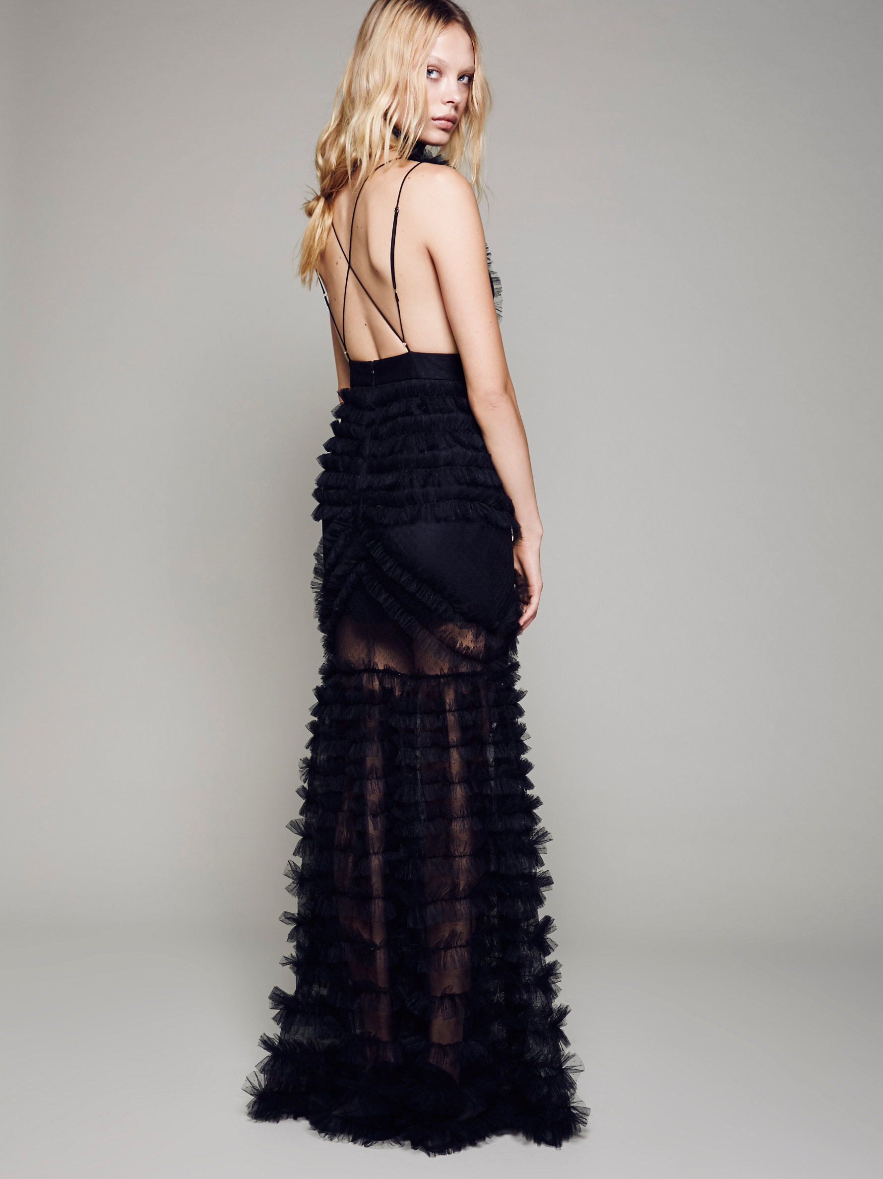 Lyst - Free People All Black Everything Gown in Black