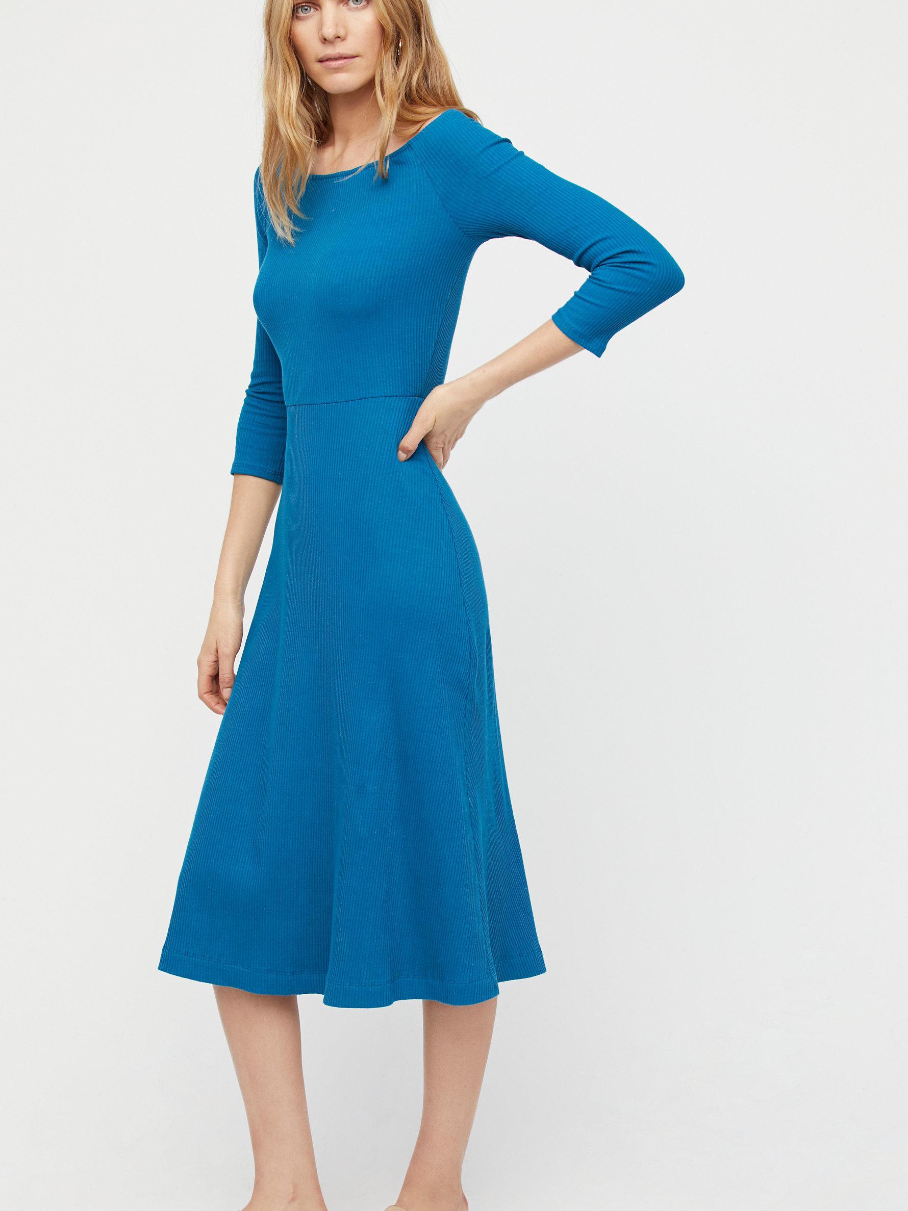 3dbc0eae82 Free People Anywhere Midi Dress in Blue - Lyst