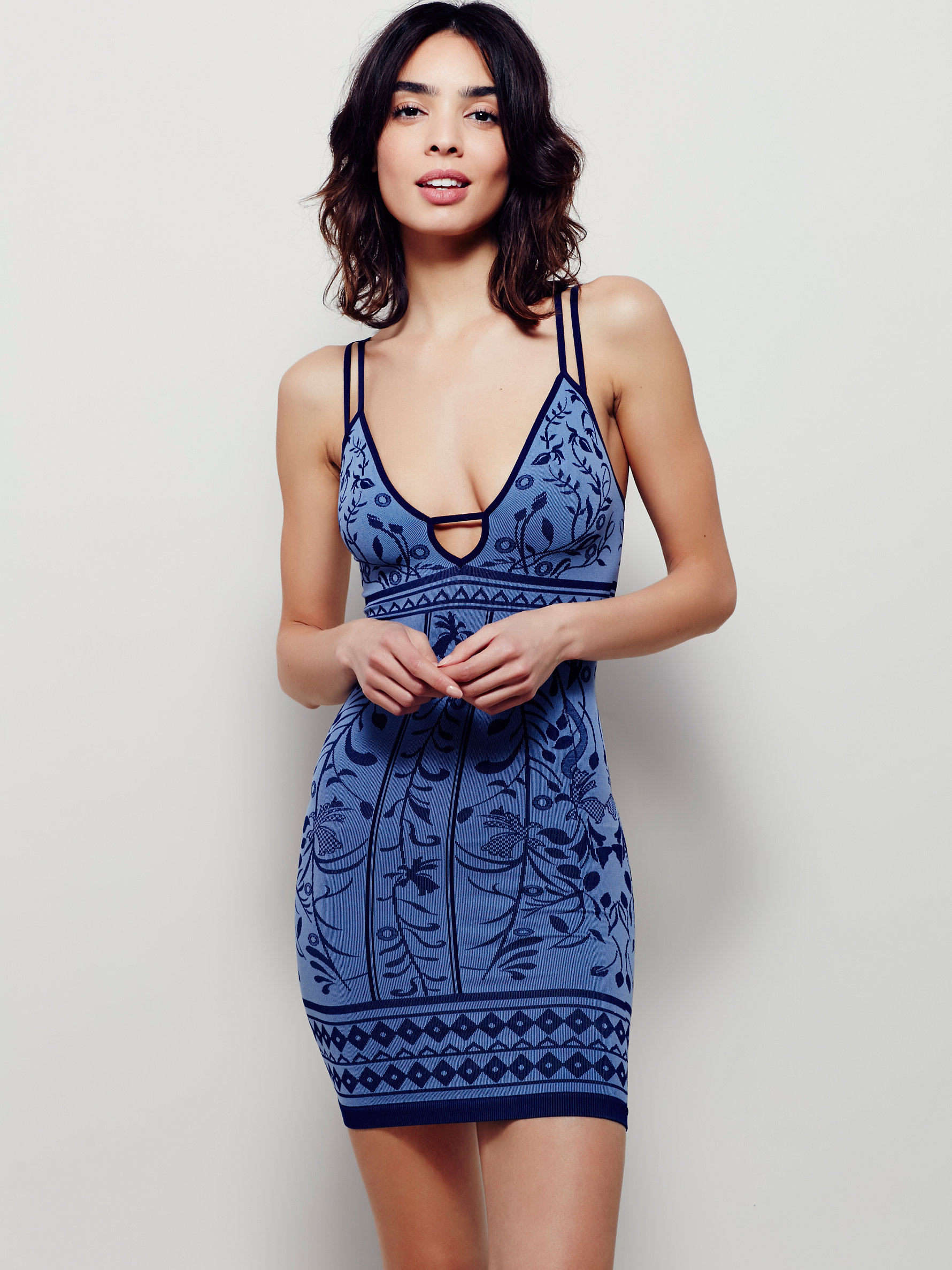 Free people Better Than Ever Bodycon in Blue | Lyst