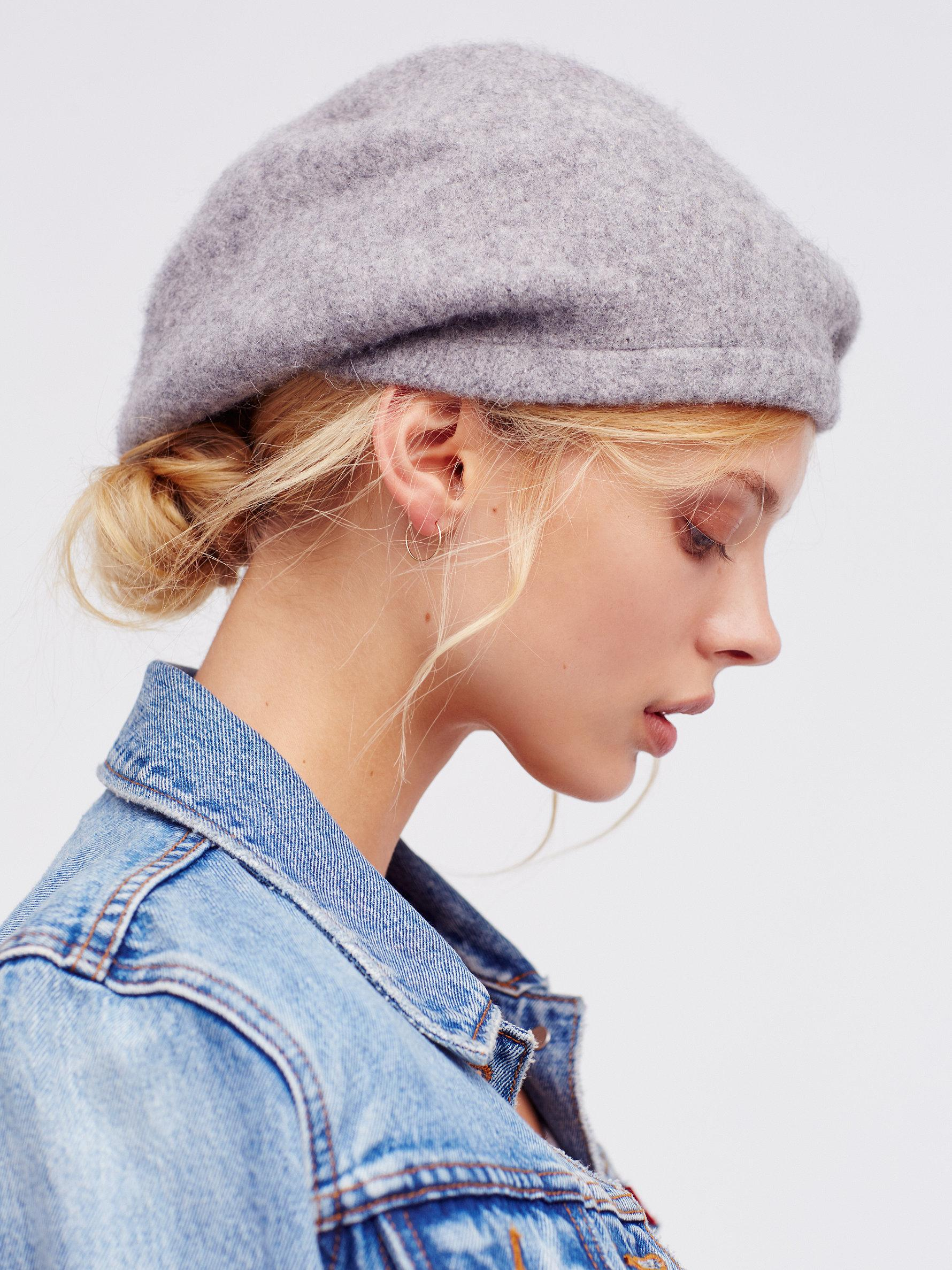 8ff420136bc7f Free People Bisous Slouchy Beret in Gray - Lyst