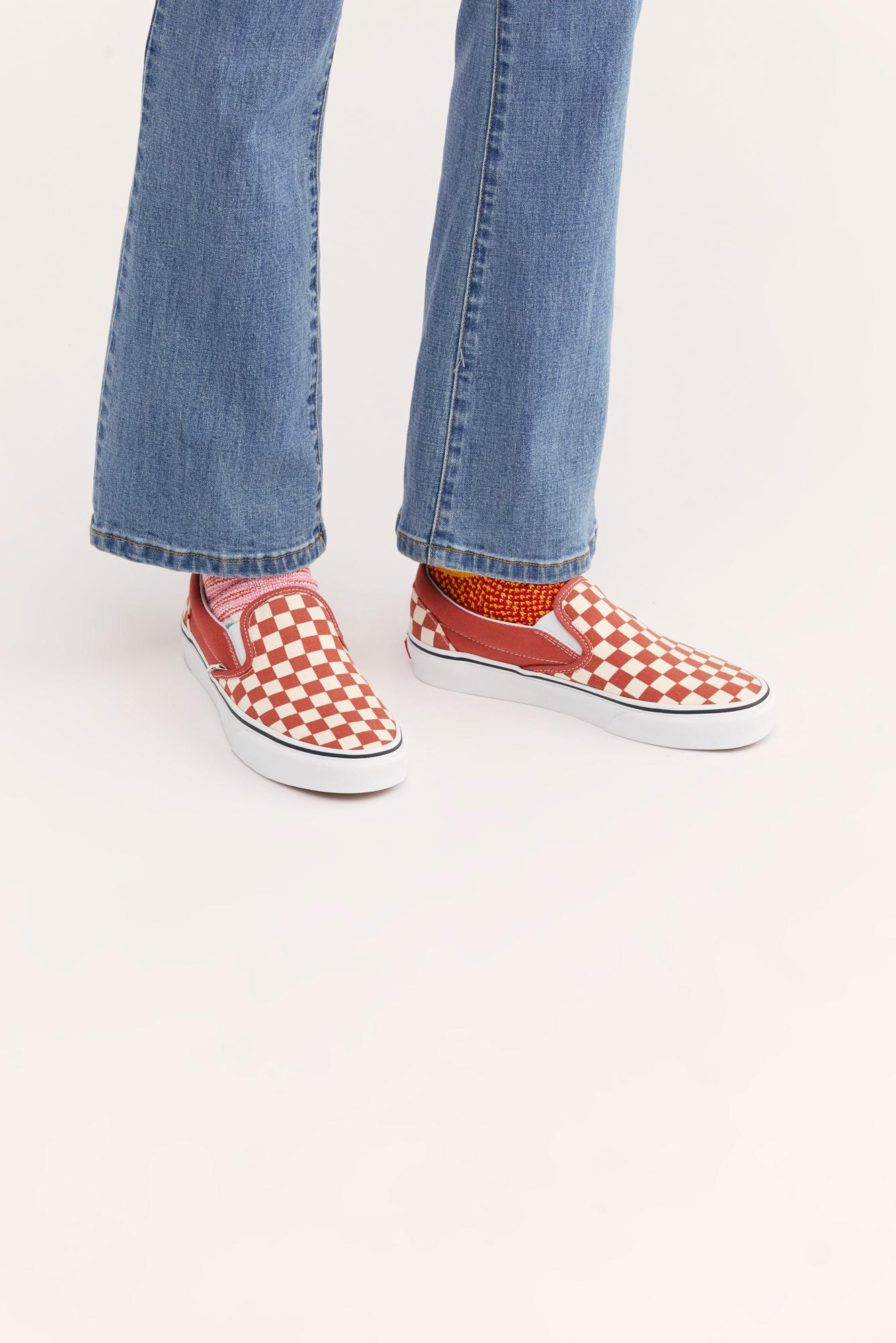 4d4e12c27514d5 Lyst - Free People Classic Checkered Slip-on By Vans