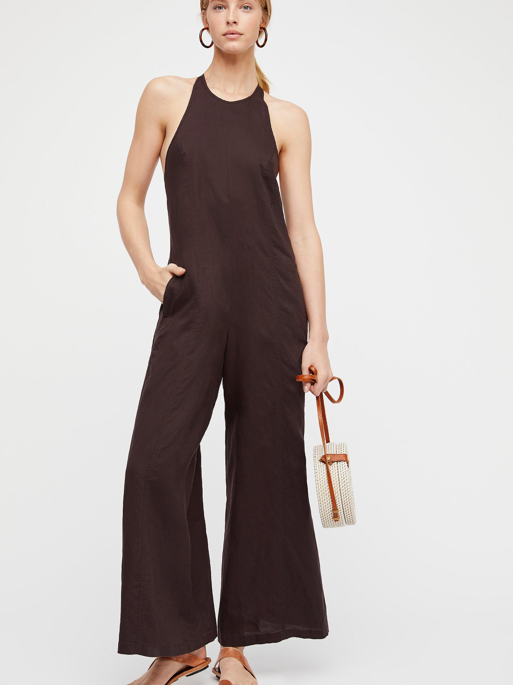 25e9e5870d92 Free People Black Swan Jumpsuit in Black - Lyst