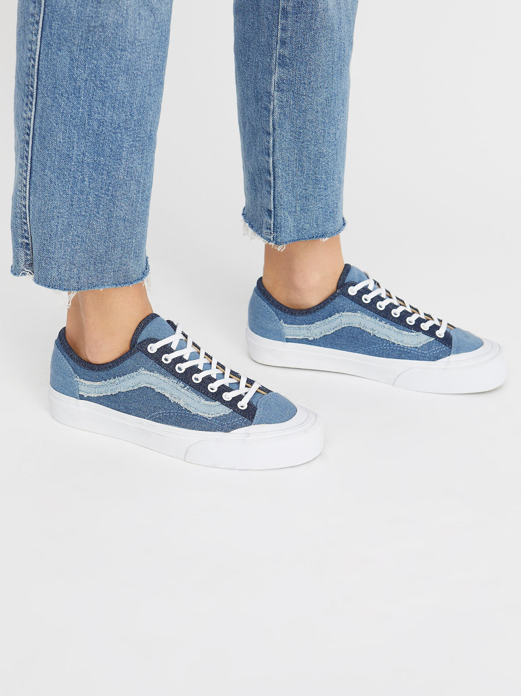 a43f1a1a847bc2 Lyst - Free People Denim Style 36 Deacon Sneaker in Blue