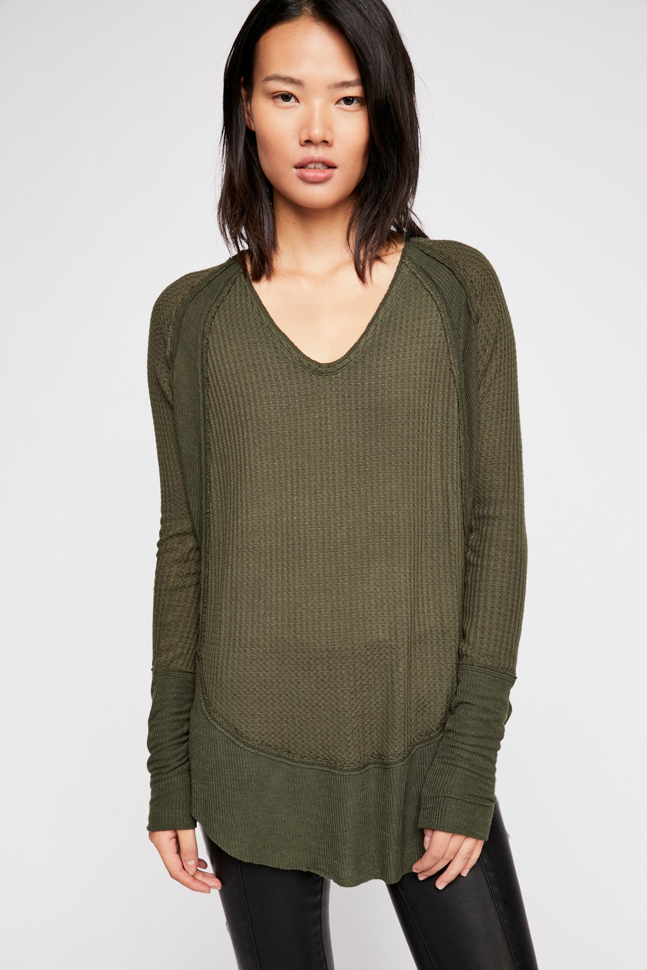 1f644ced75 Free People We The Free Catalina Thermal Top in Green - Lyst