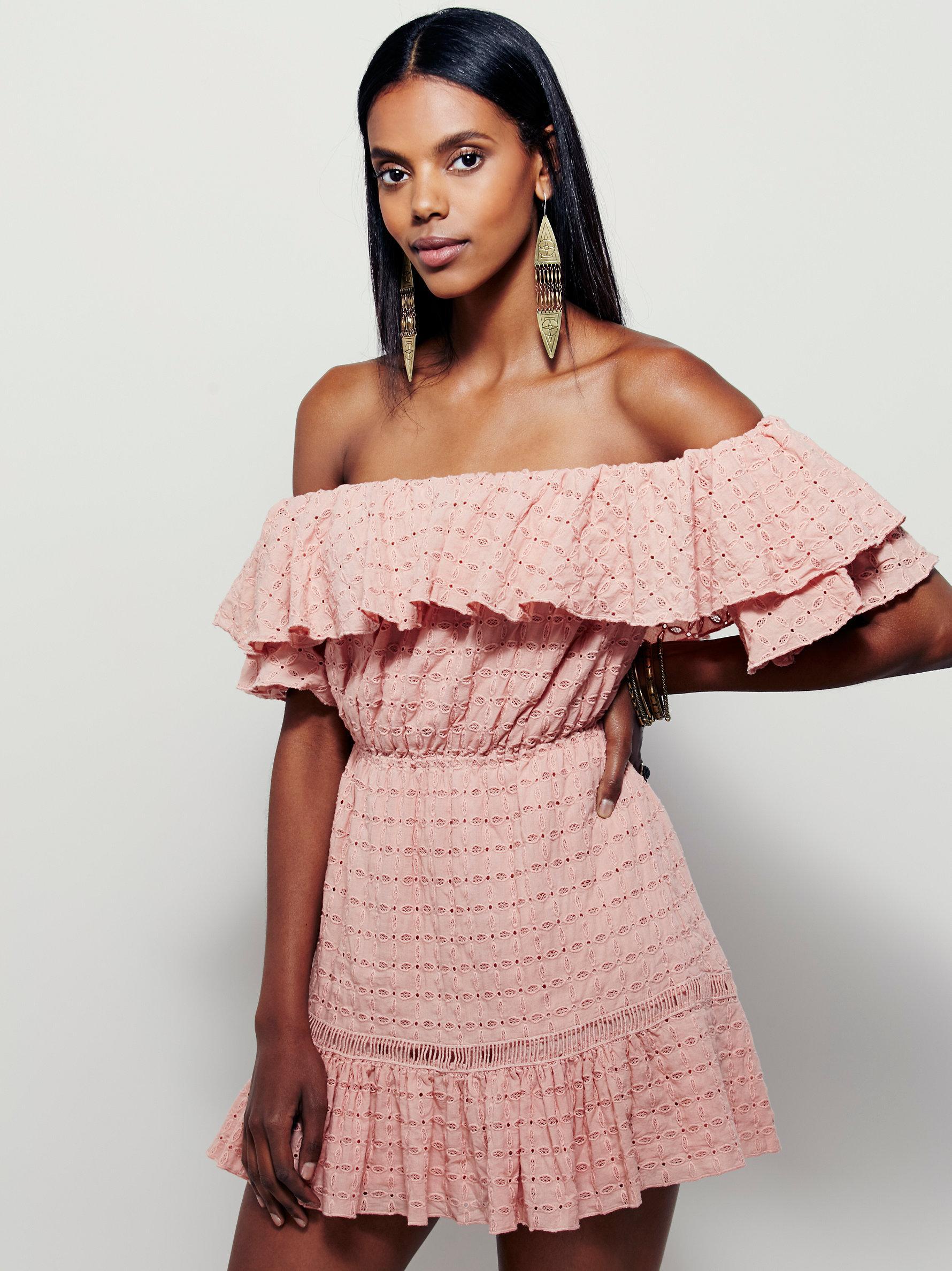 Lyst - Free People Celine Mini Dress in Pink