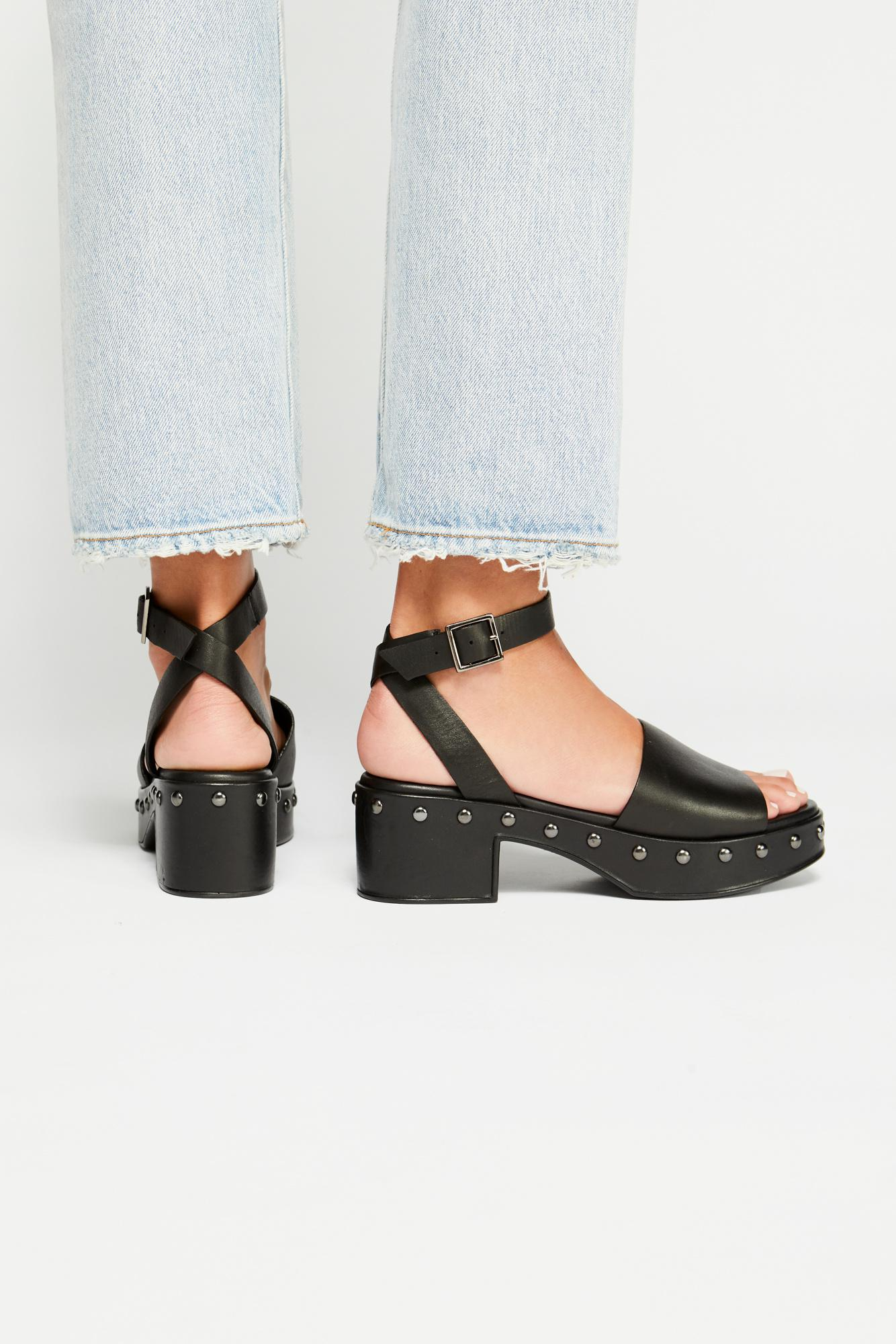 01c04c98b54 Free People - Black Stand By Me Platform Sandal - Lyst. View fullscreen
