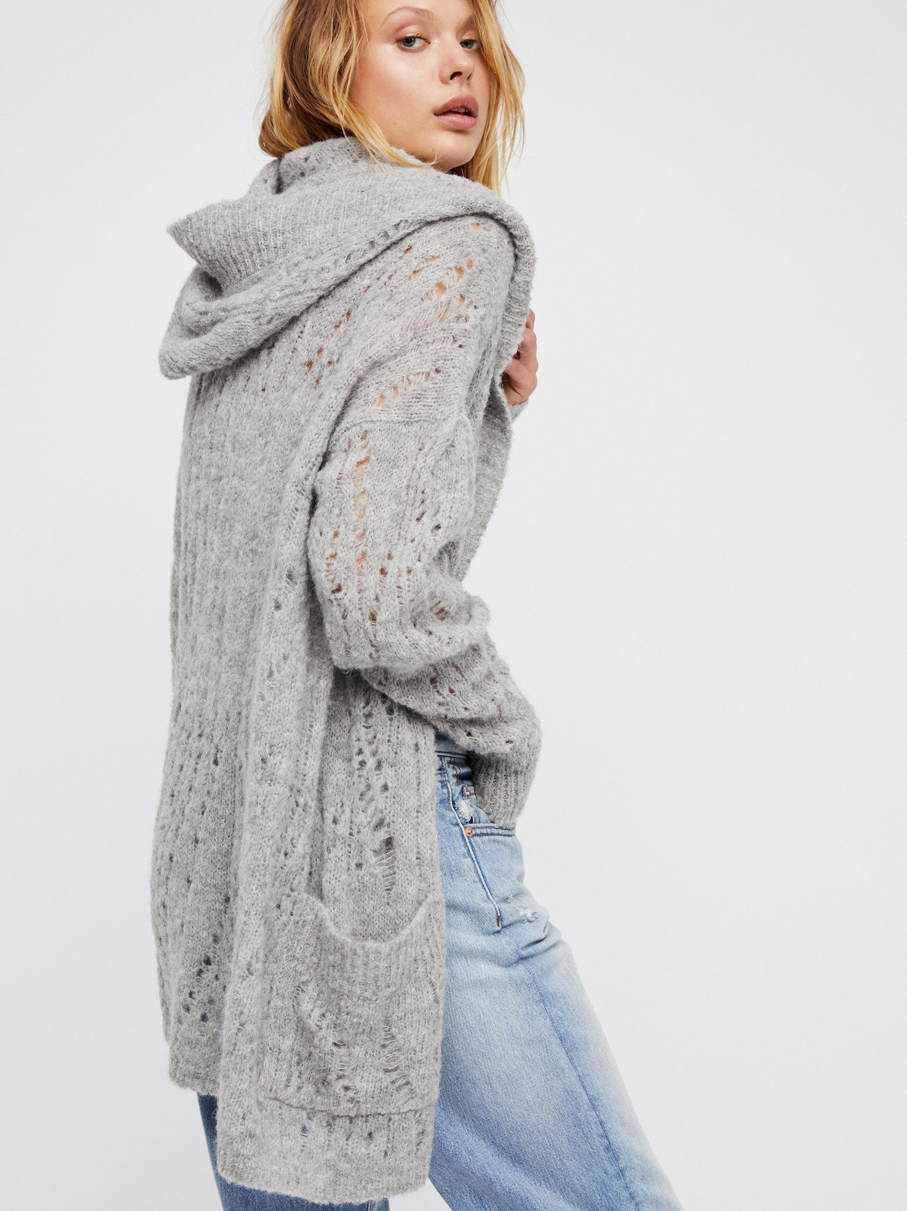ba1b7fd73 Lyst - Free People Lemon Drop Cardi in Gray