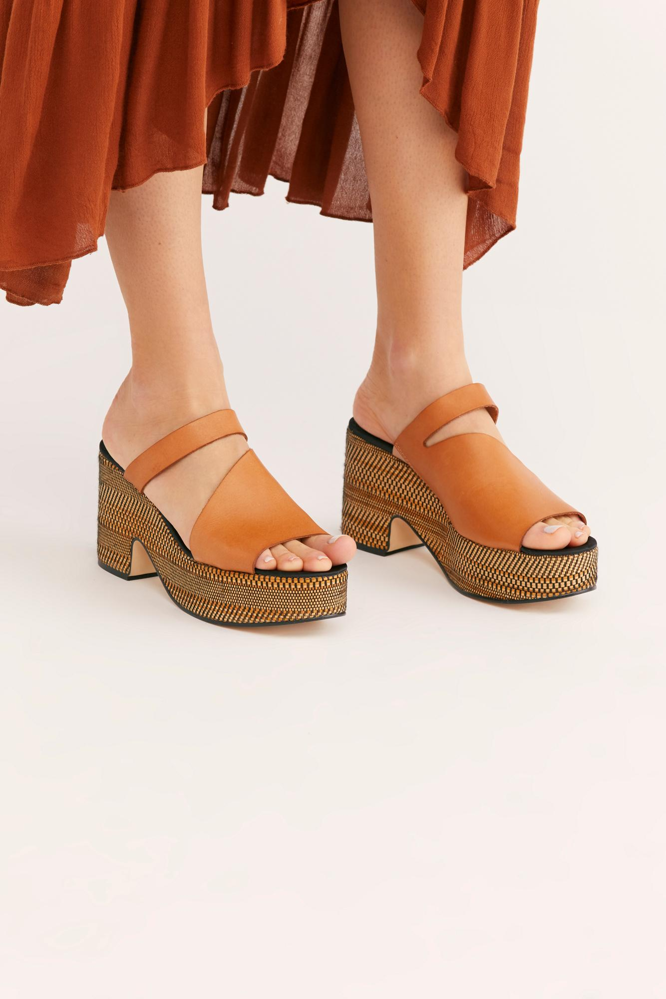 f48cb9b49e0 Lyst - Free People Demi Platform By Fp Collection in Brown