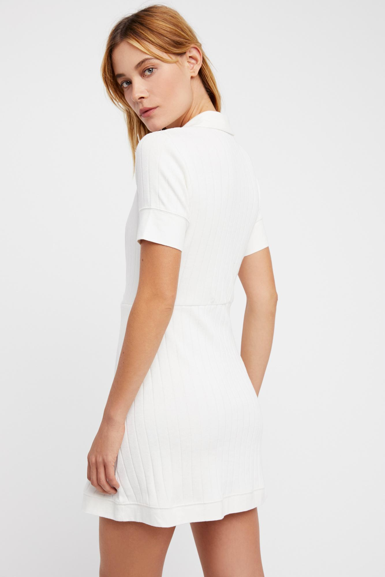 f3936d0b6a Free People - White New Afternoon Mini Dress By Fp Beach - Lyst. View  fullscreen