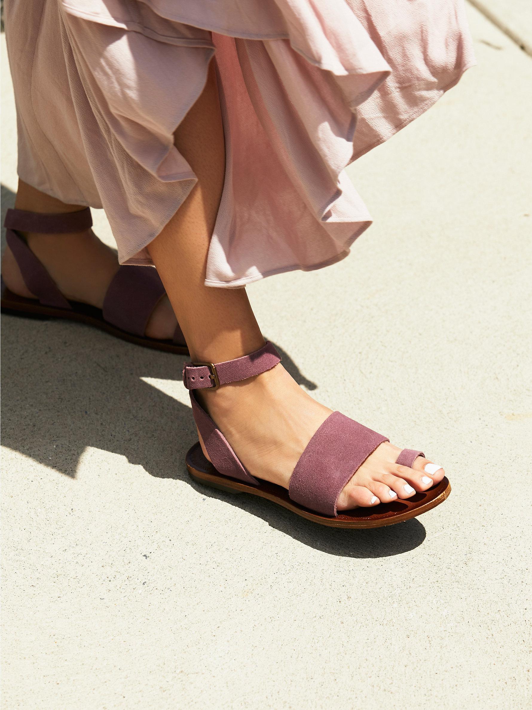 130967d96c3 Lyst - Free People Torrence Flat Sandal in Purple