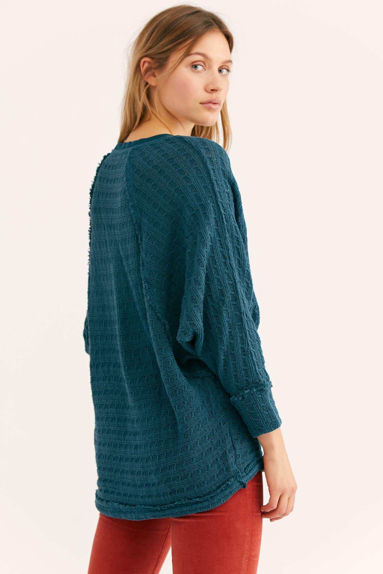 f8c14459d591 Free People We The Free Thien's Hacci Top in Blue - Lyst