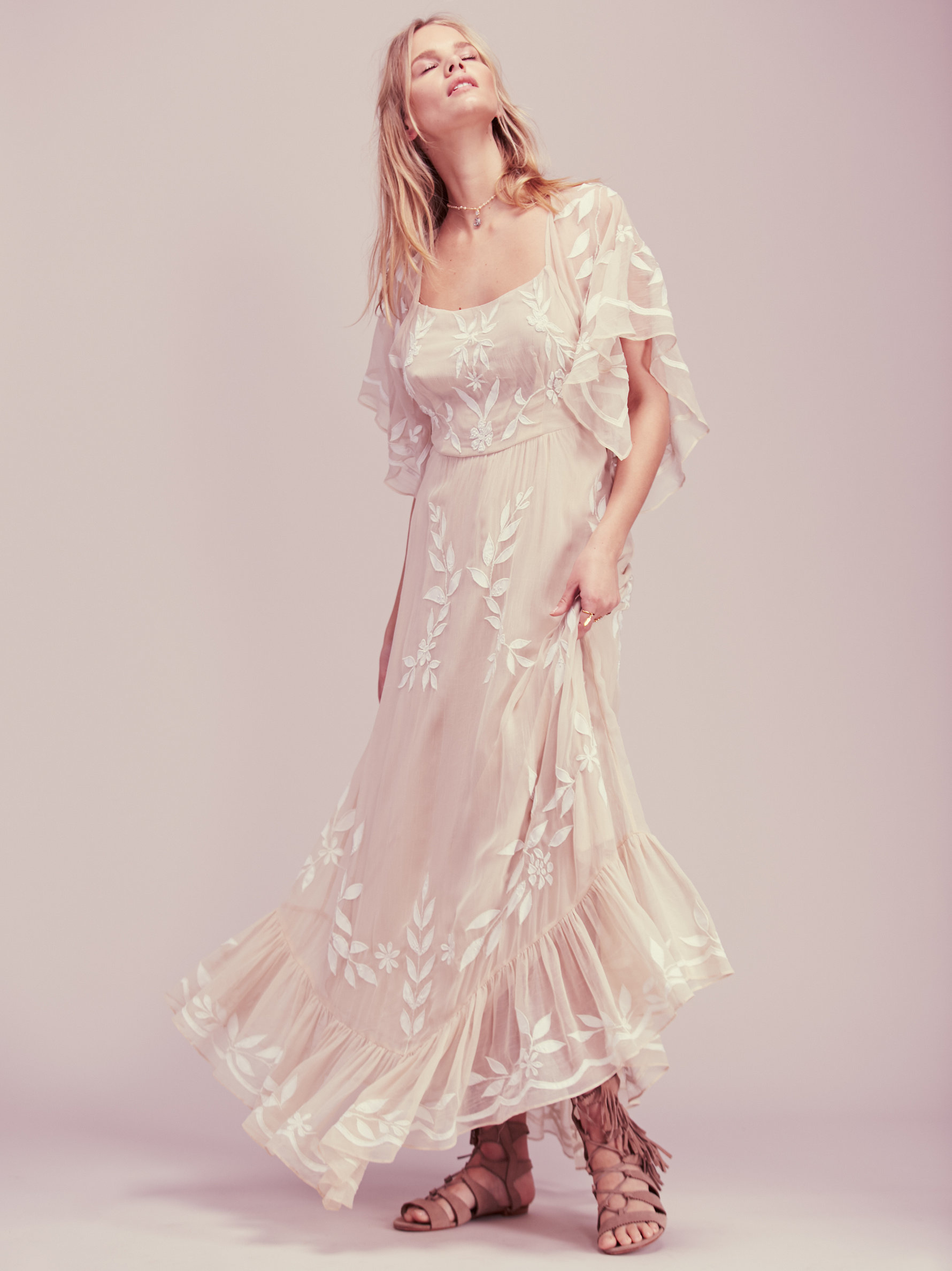Free People Enchanted Forest Maxi Dress In Natural Lyst