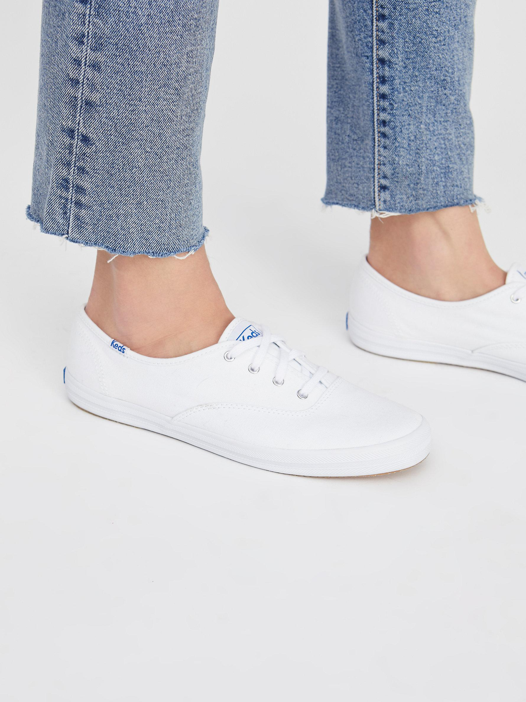 996e35ac860d Lyst - Free People Keds Champion Sneaker in White
