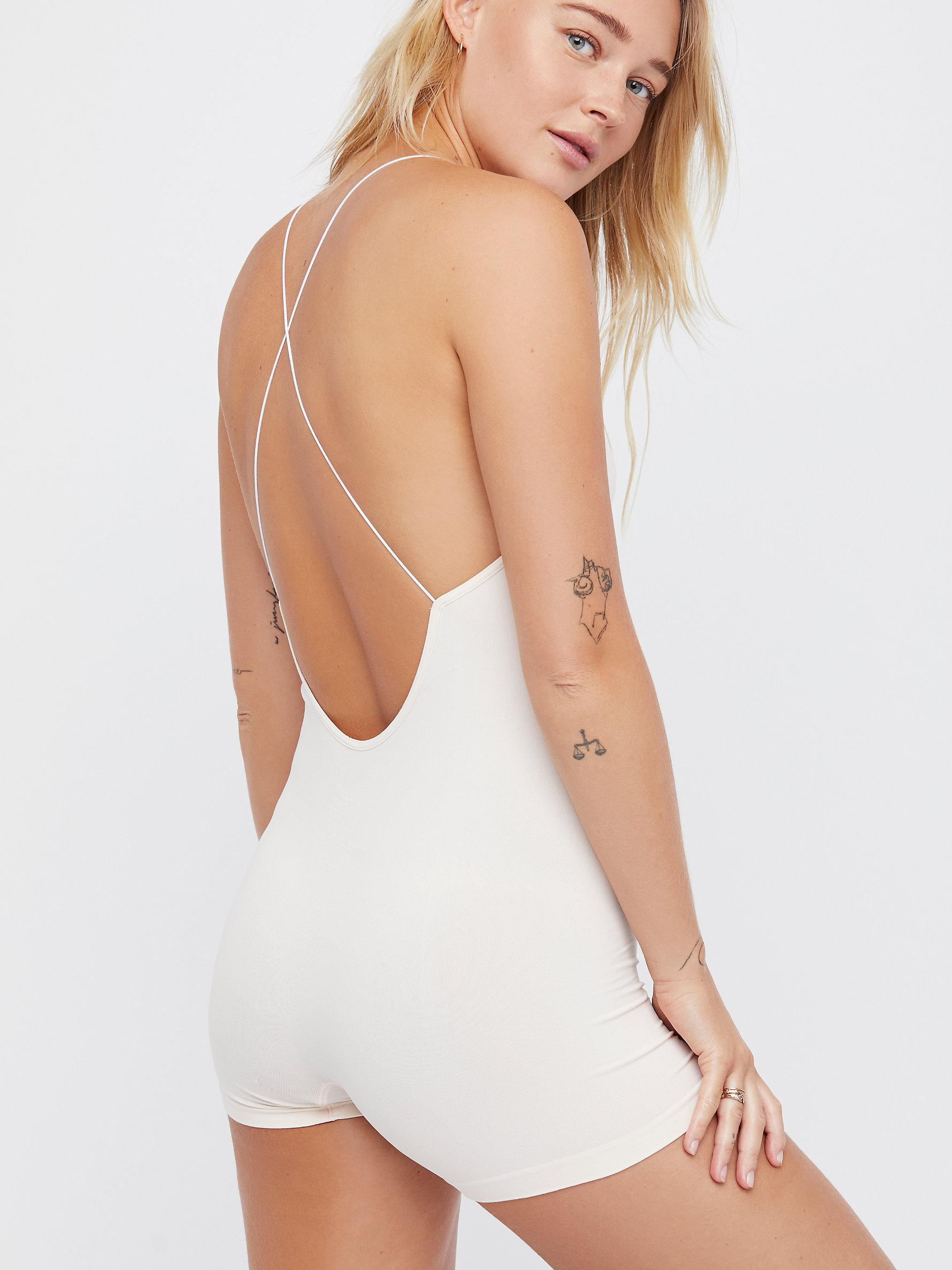 70ceb3c59185 Free People Low Back Seamless Playsuit By Intimately in Pink - Lyst