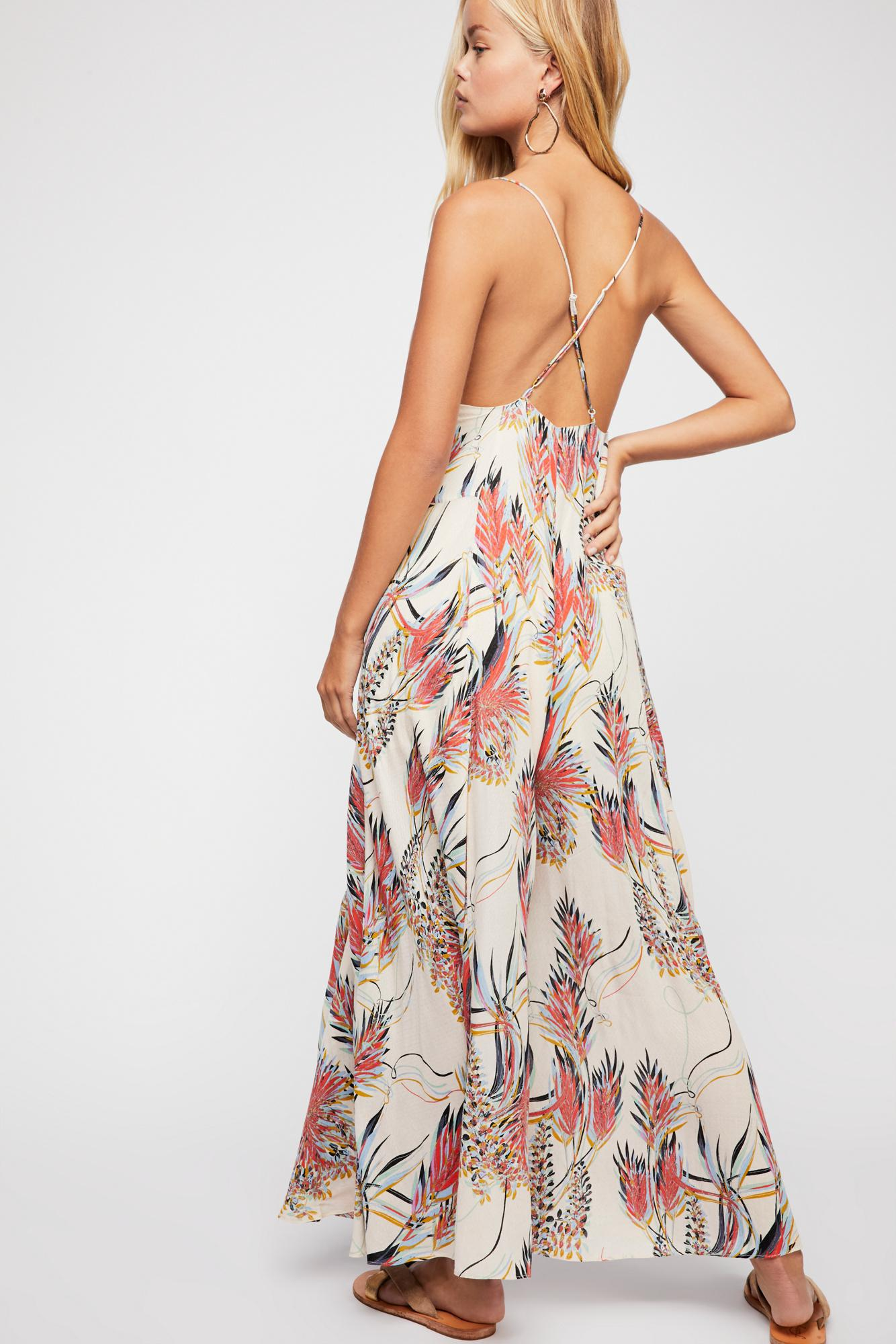 24fef6aec13a Lyst - Free People Alissa Printed Jumpsuit in White