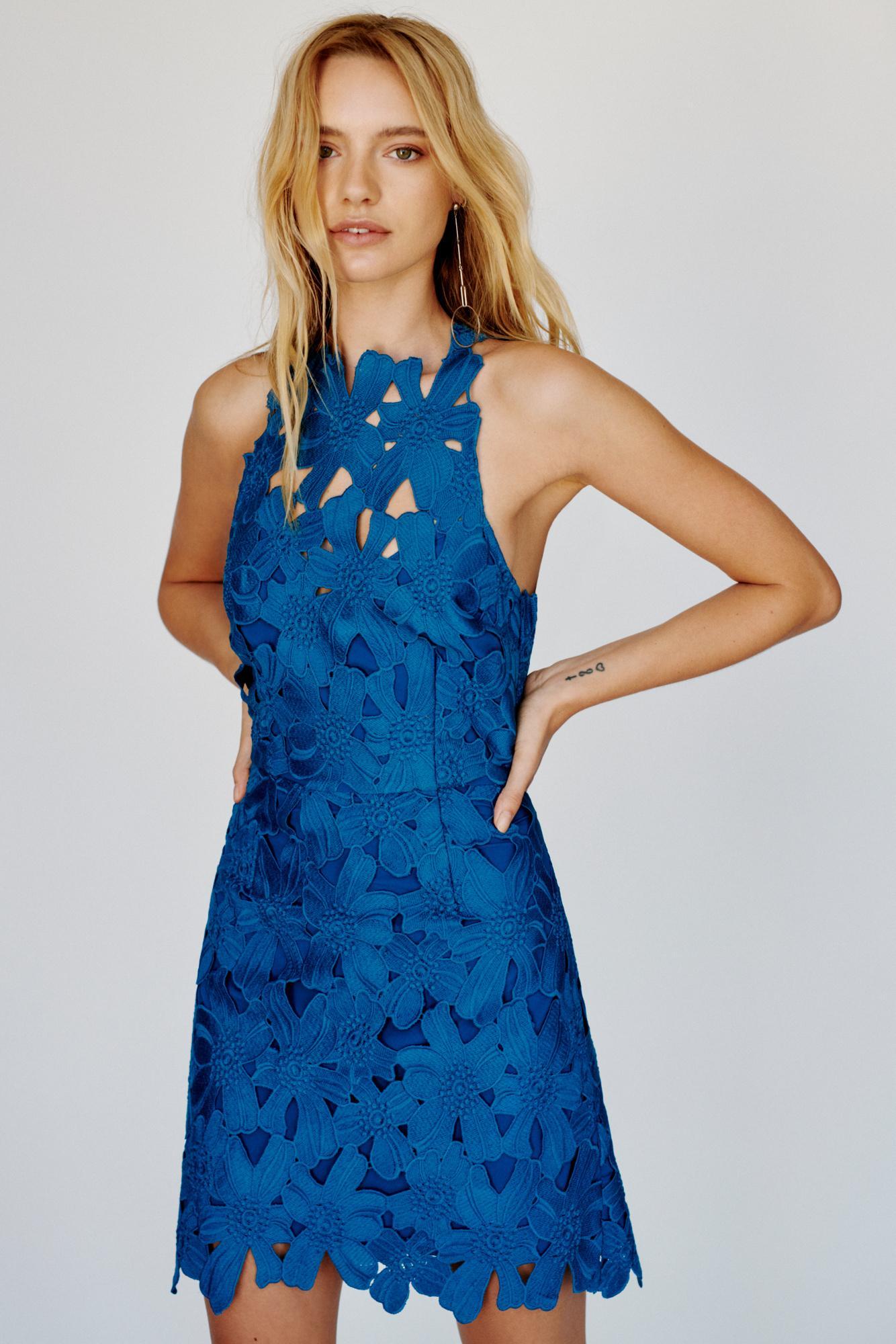 faf5a10a0e Free People - Blue Jessa Lace Mini Dress By Saylor - Lyst. View fullscreen