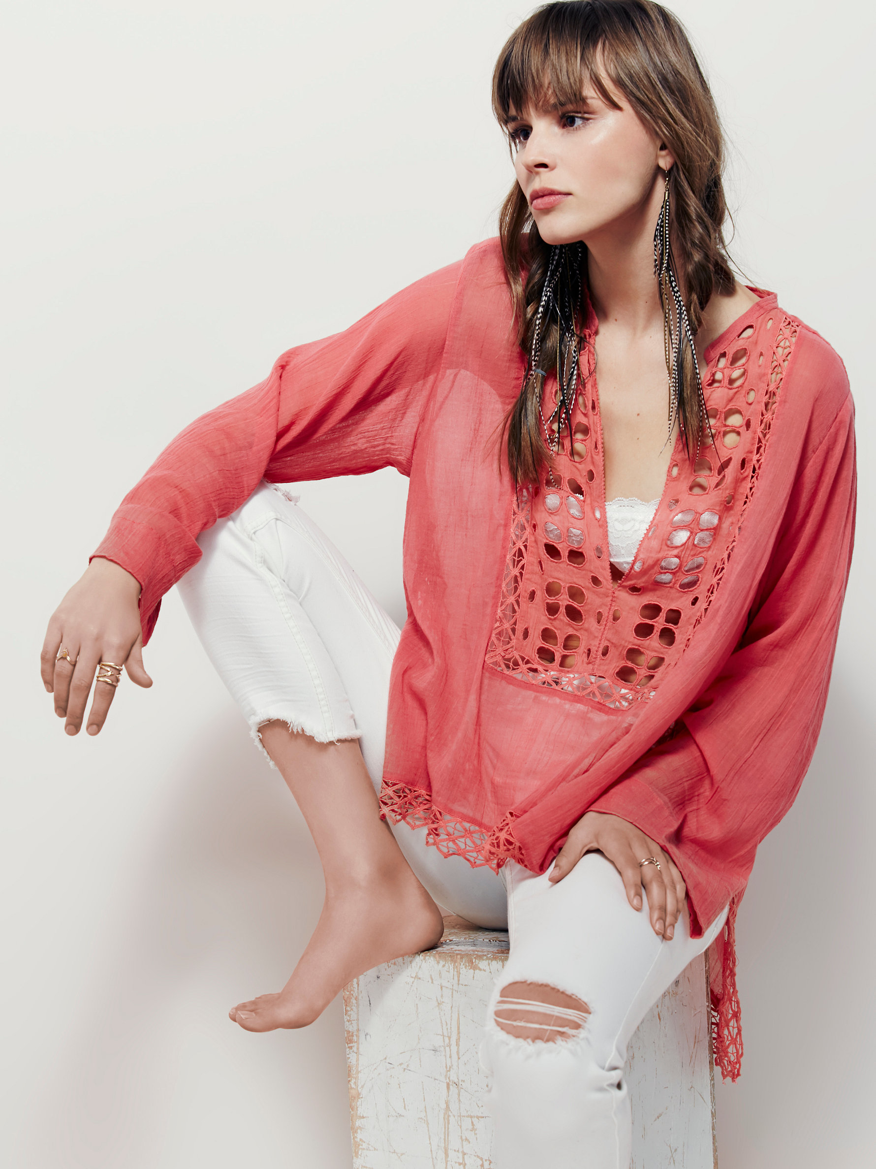 In Paloma Fp Pink Lyst Free One People Blouse hQCxsdtr