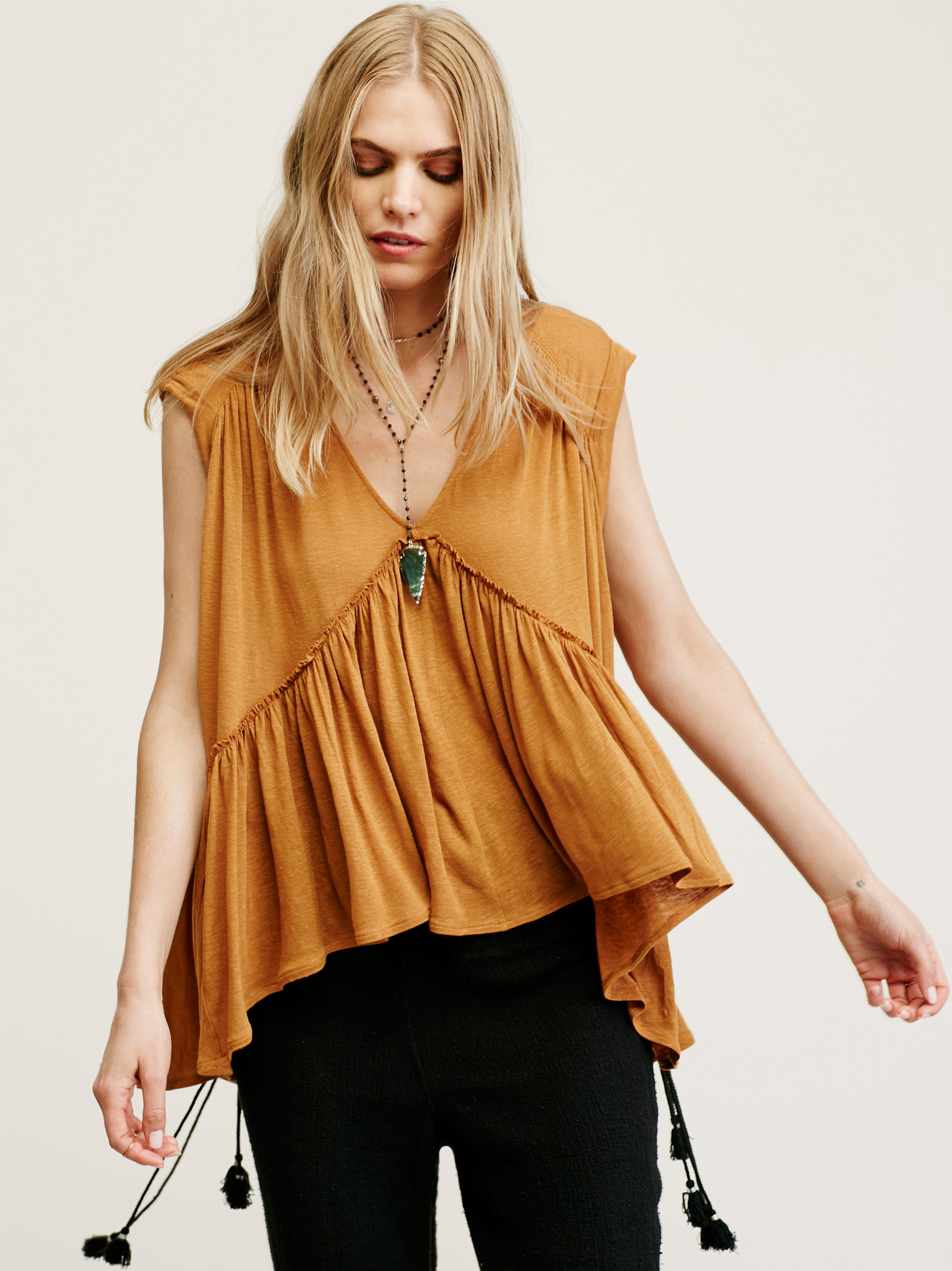 Free People Into The Night Tee In Natural