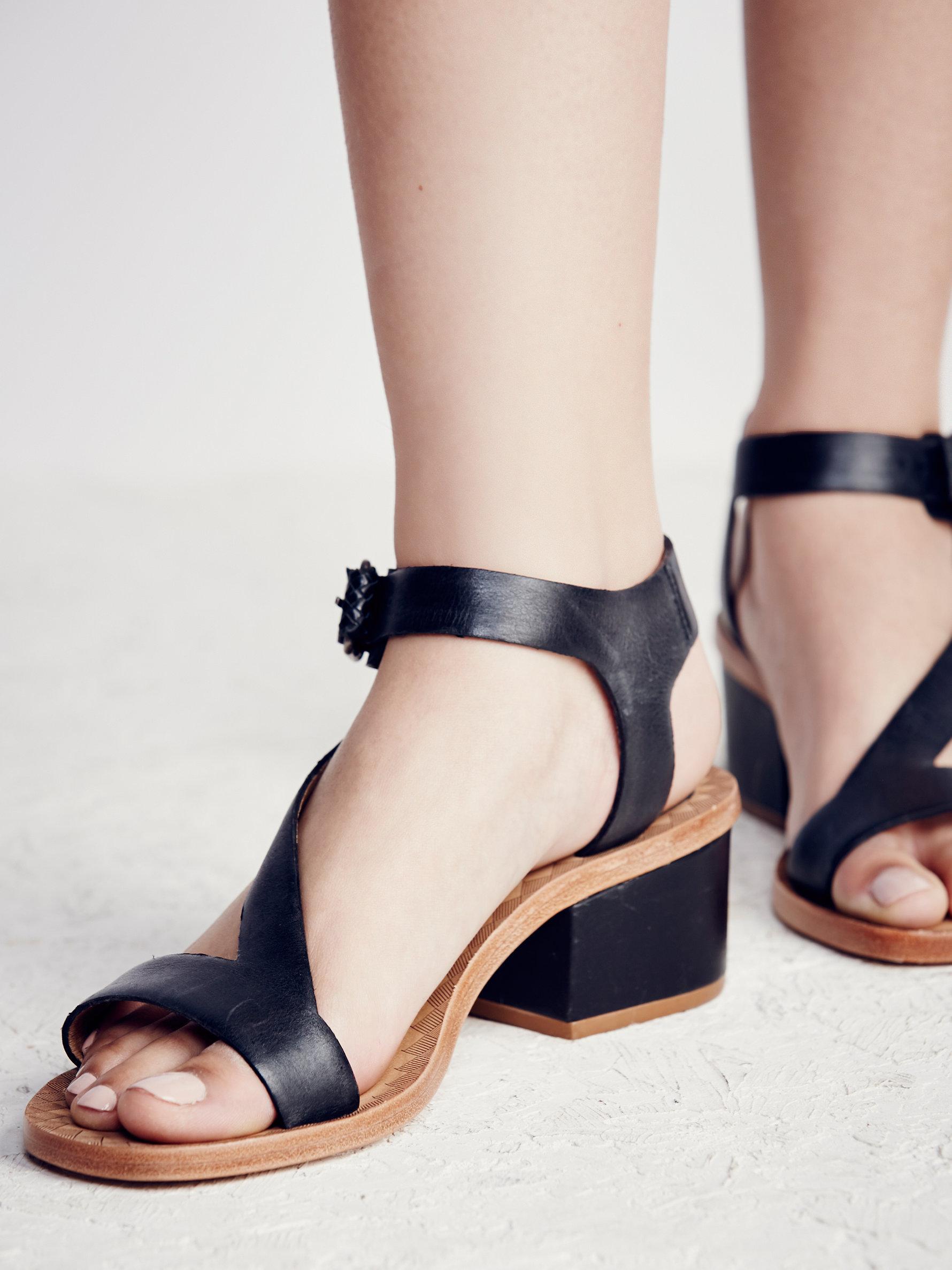 2db97ba295b Lyst - Free People Lana Block Heel Sandal in Black