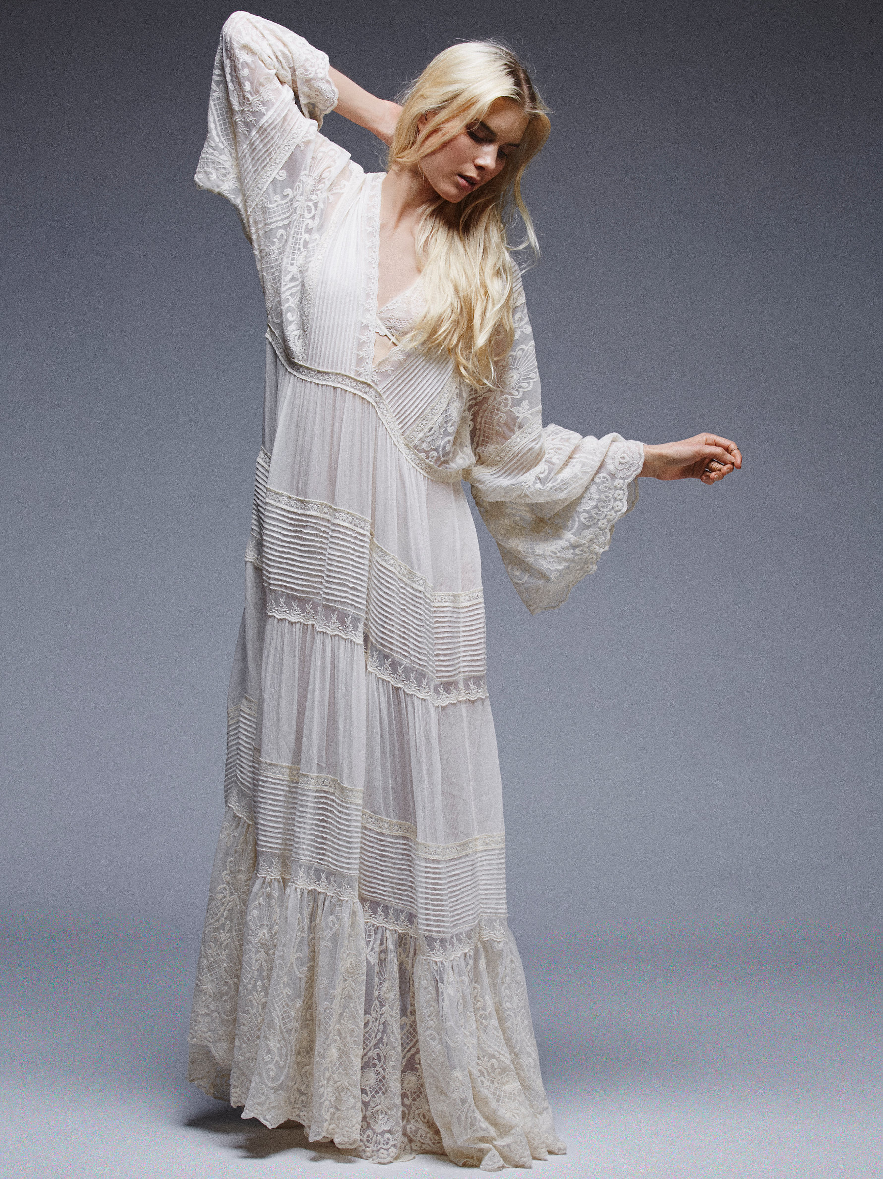 Lyst - Free People Magnolia Gown in White
