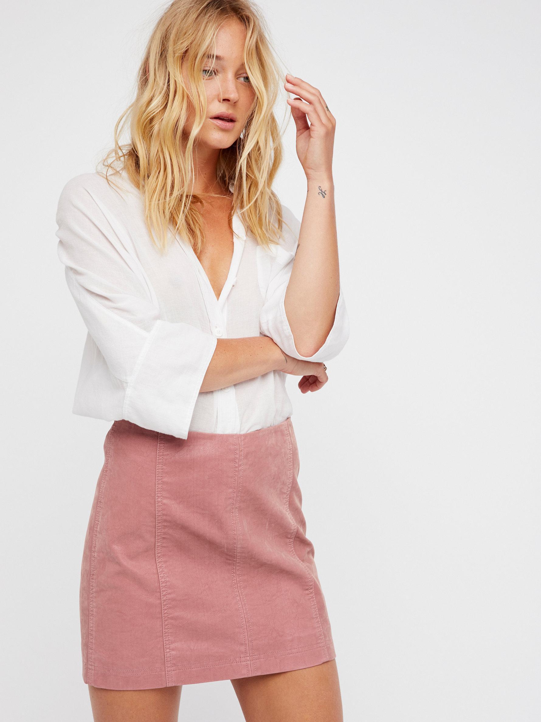ed03340b79 Free People Modern Femme Vegan Suede Mini in Pink - Lyst