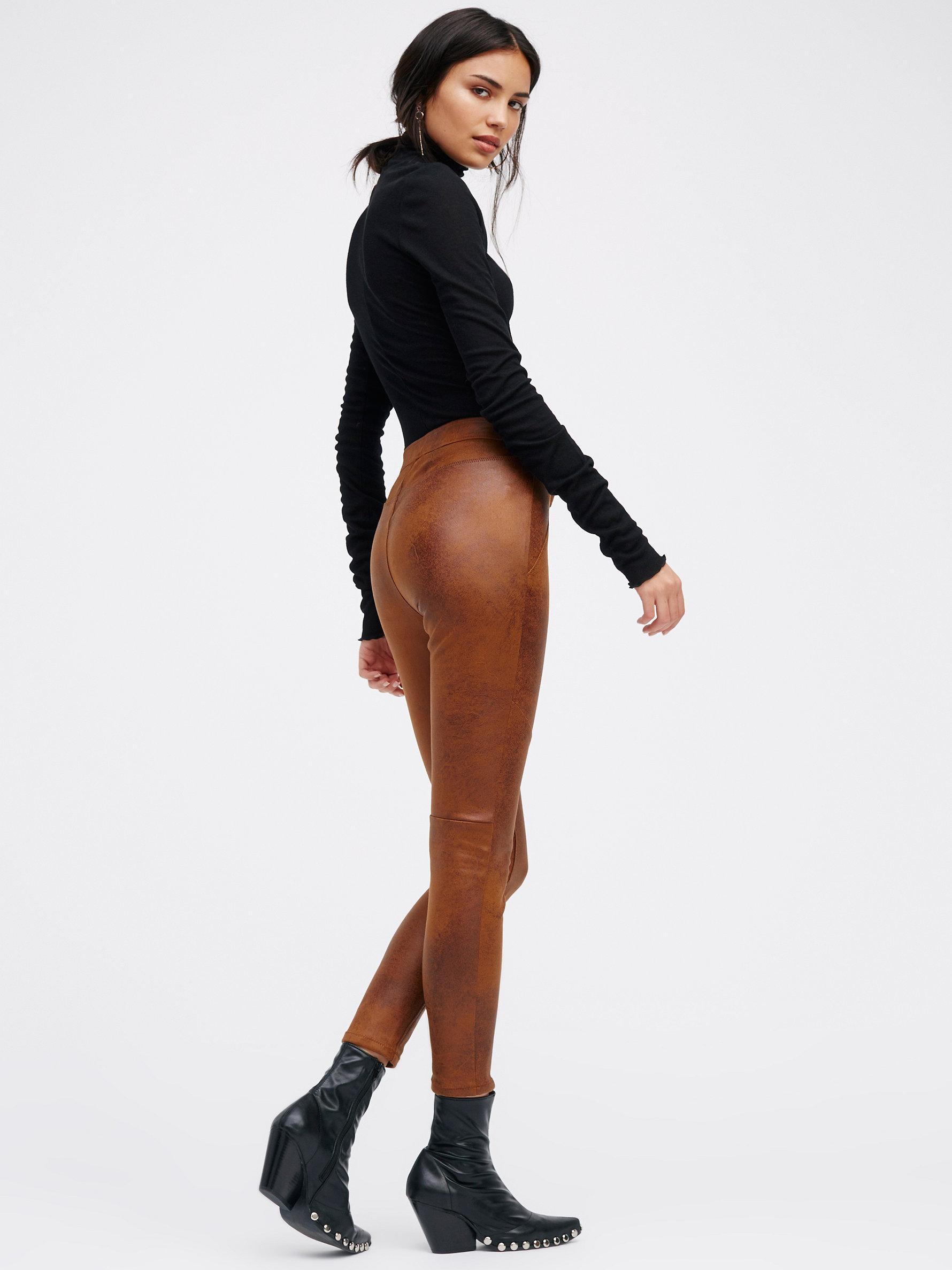 7338ae1761aede Free People Never Let You Go Vegan Legging in Brown - Lyst