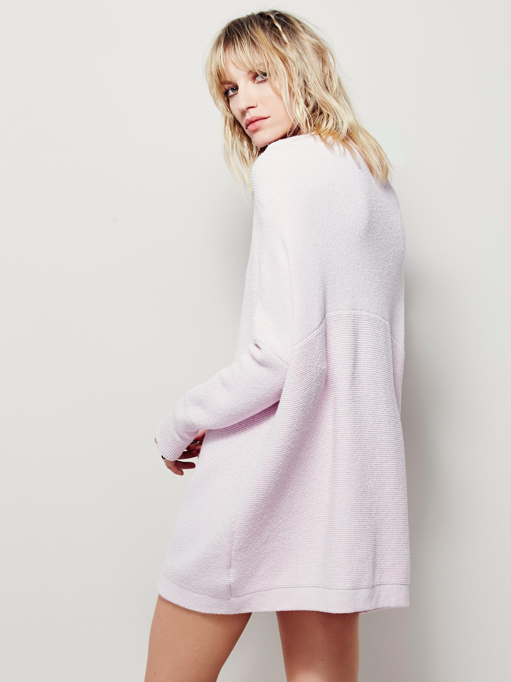 Lyst Free People Ottoman Slouchy Tunic In Pink