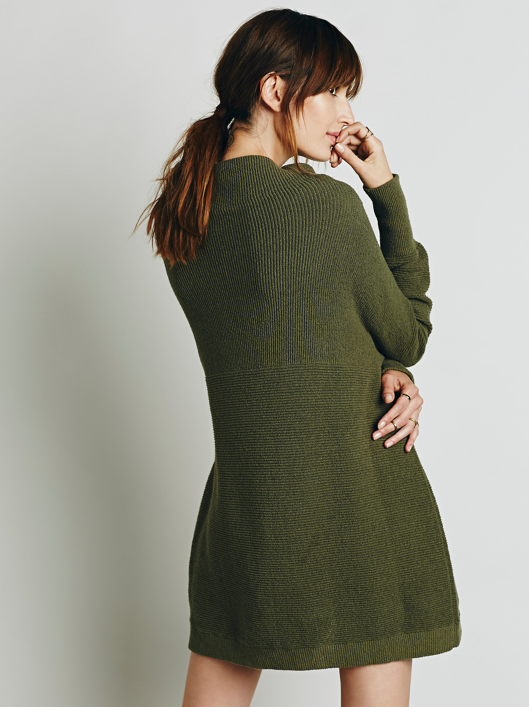 Free People Womens Ottoman Slouchy Tunic In Green Lyst