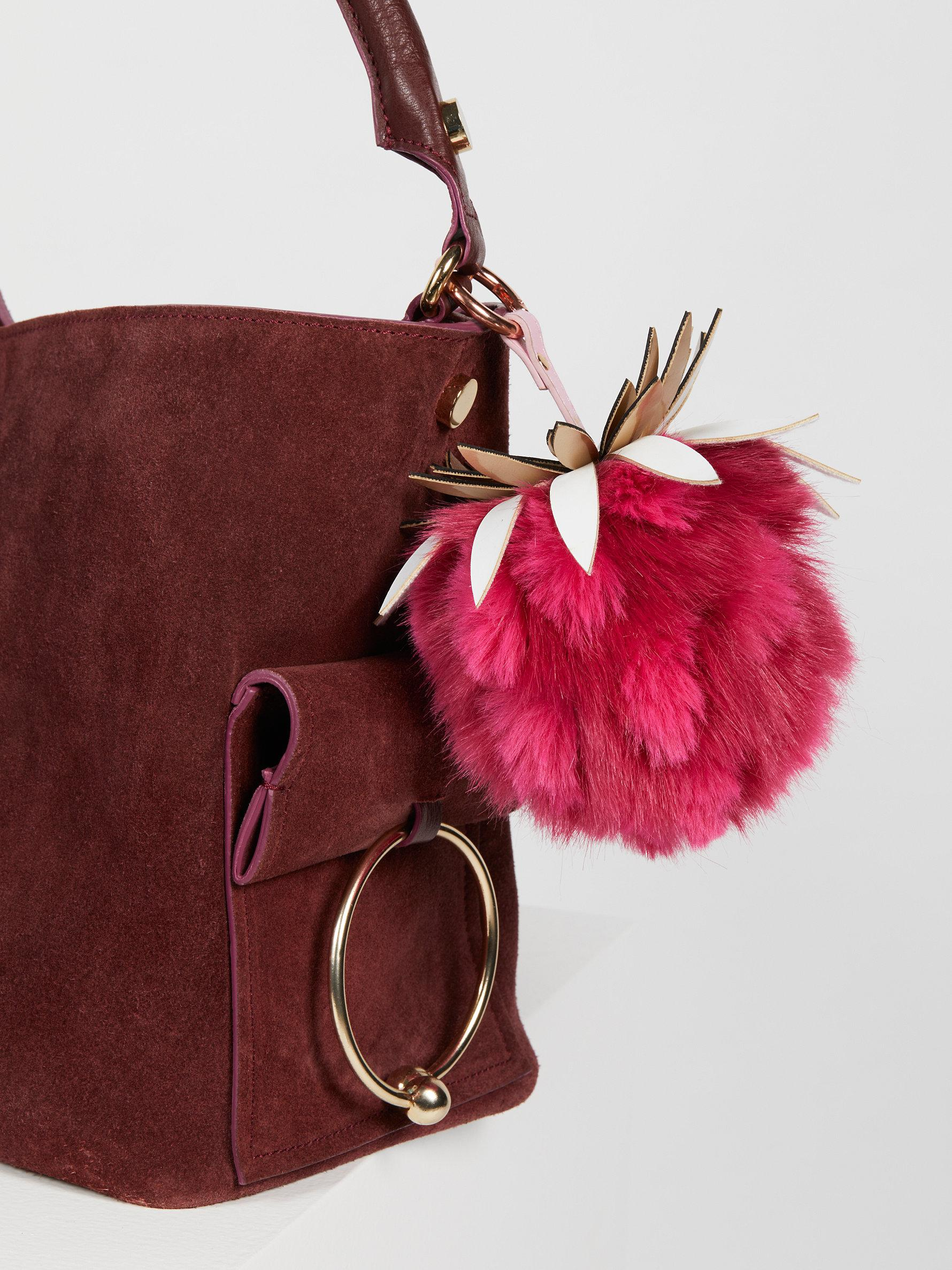 Lyst People Pinele Faux Fur Bag Charm In Pink