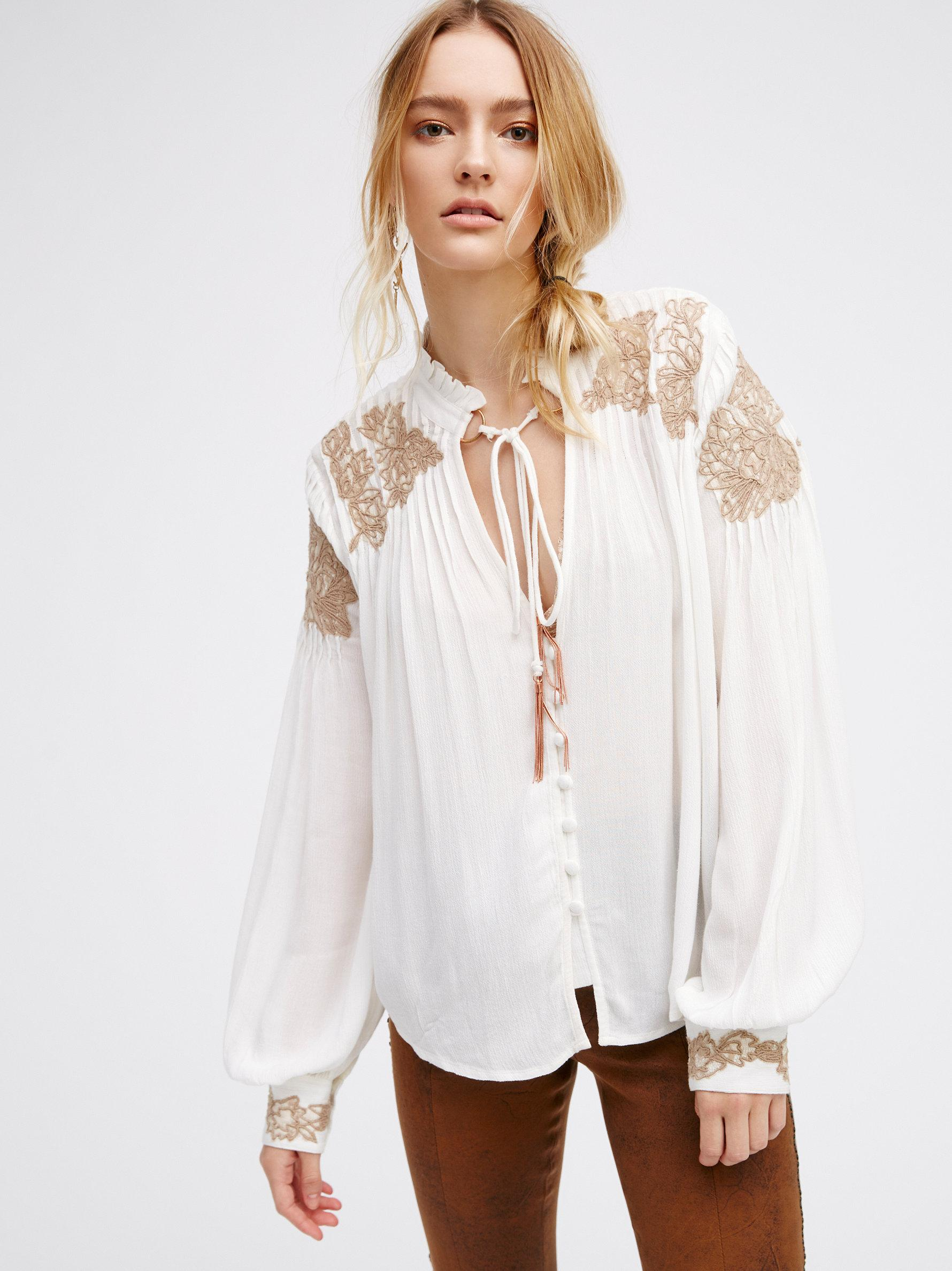 Lyst Free People Spring Flowers Top In White