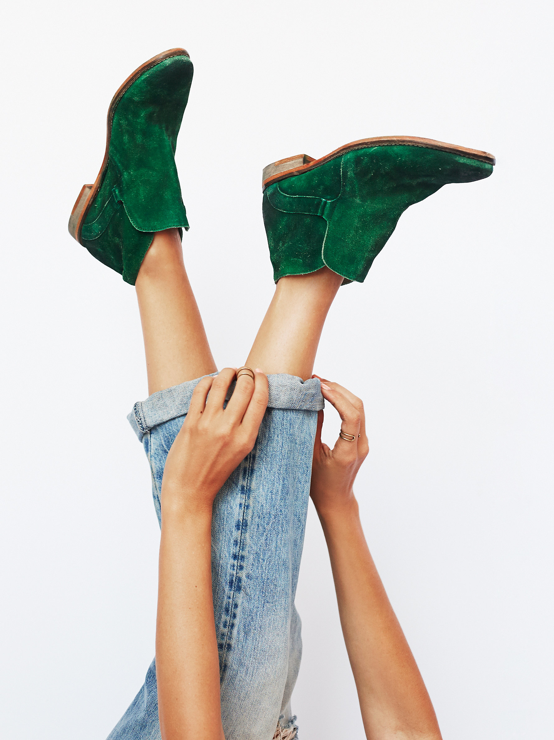 Free people Summit Ankle Boot in Green