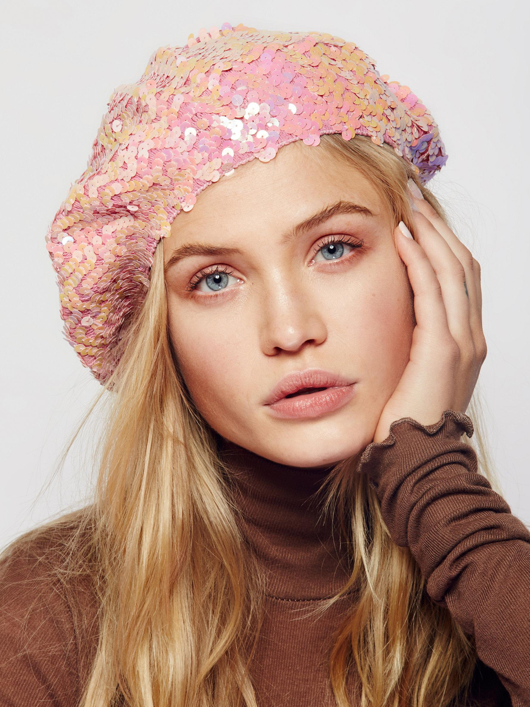 574afb74d7909 Free People Up All Night Sequin Beret in Pink - Lyst