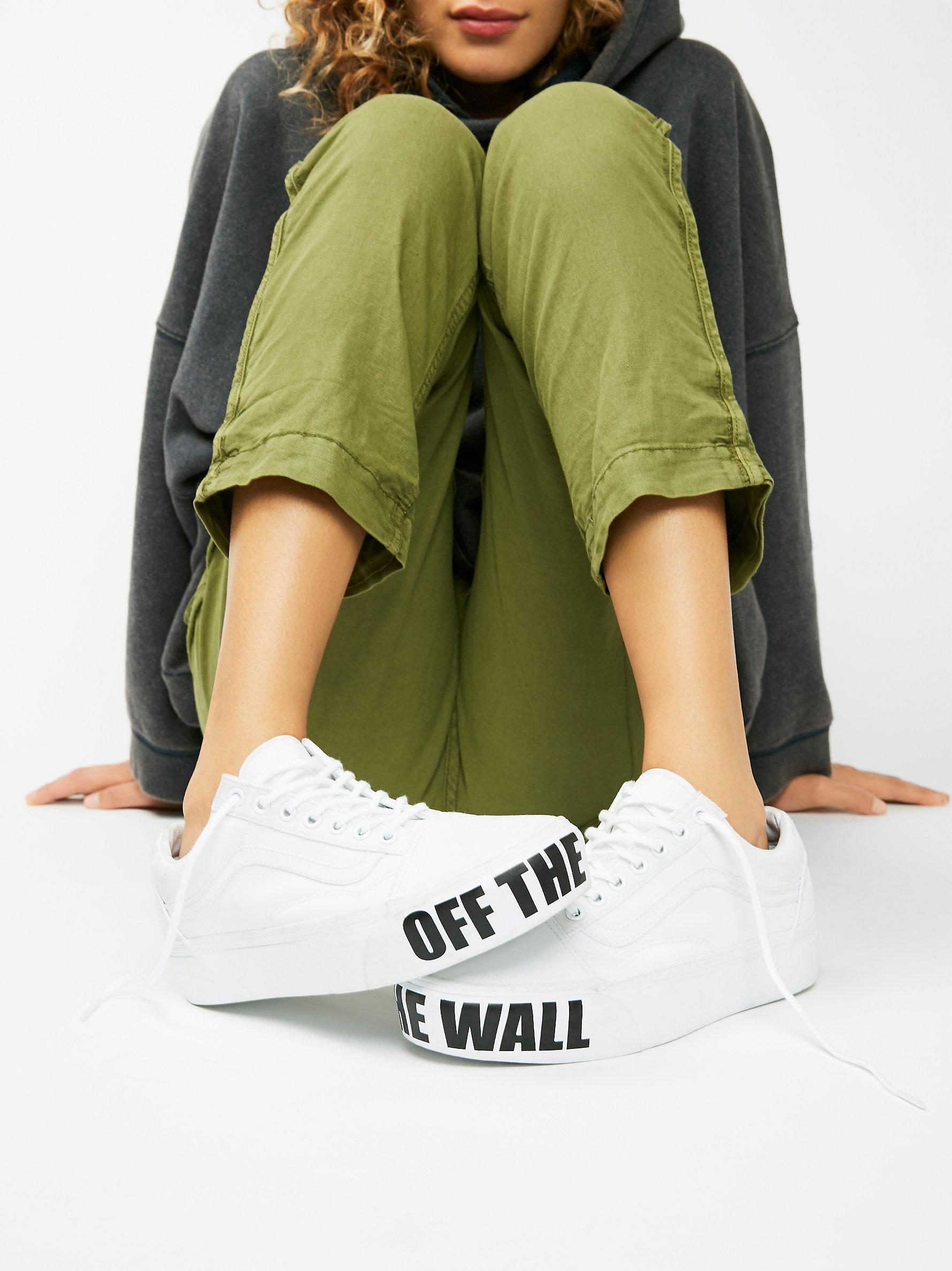 89b82694b0e Lyst - Free People Vans Authentic Platform Sneaker