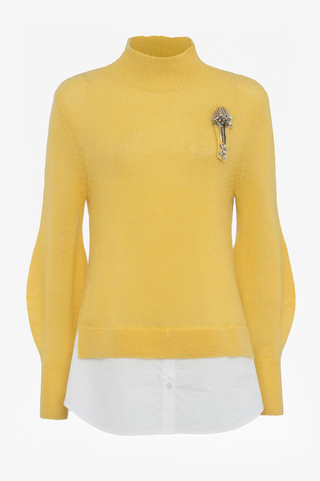 827915cb1eb50d ... Usa clearance sale 5f87a 8b764  Lyst - French Connection Avis  Embellished Knitted Jumper in Yellow fashion styles 900a1 6245a ...