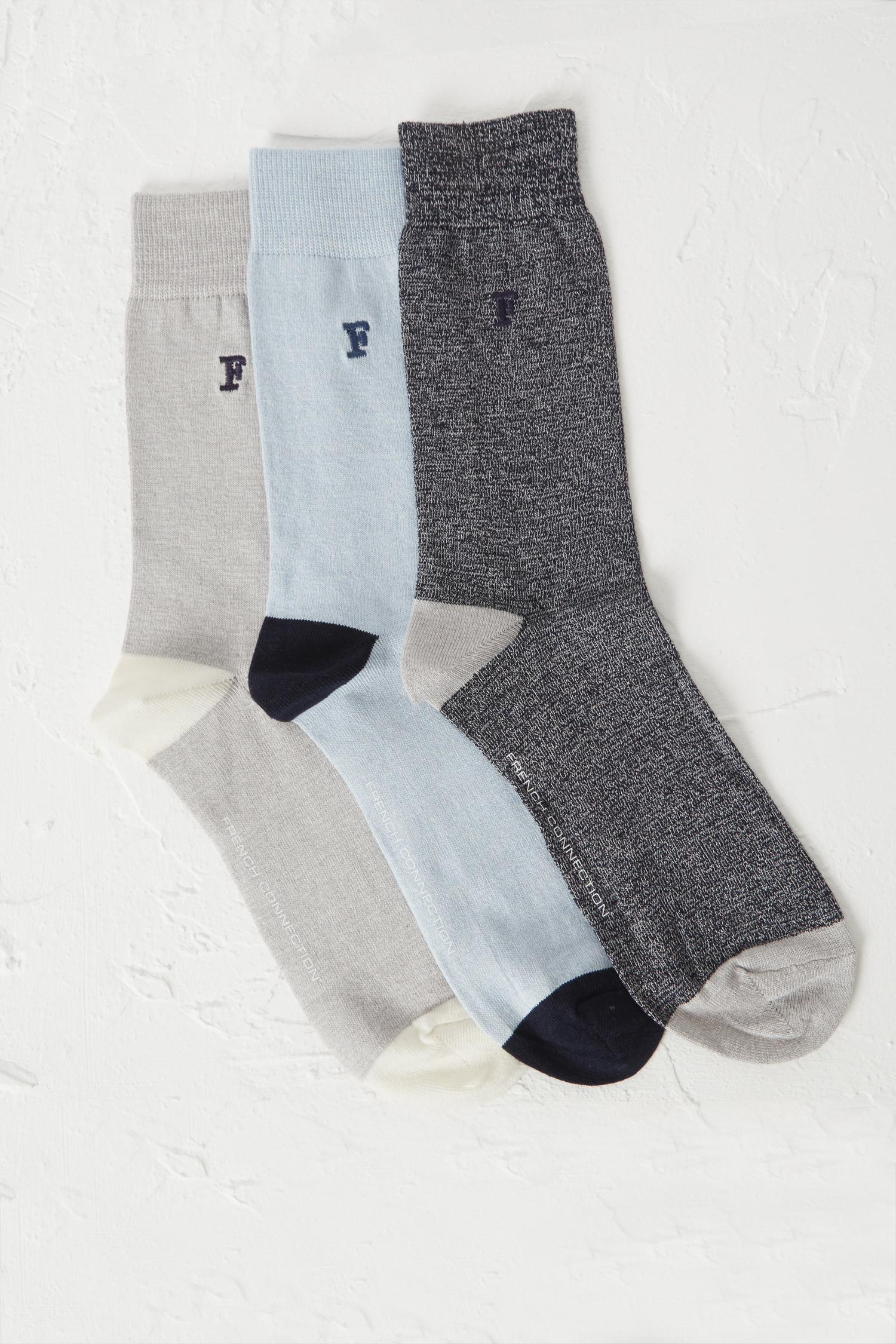 Mens Socks pack of 3 French Connection Cheap Enjoy Buy Cheap Outlet Locations Websites Cheap Price tu2sluVqx