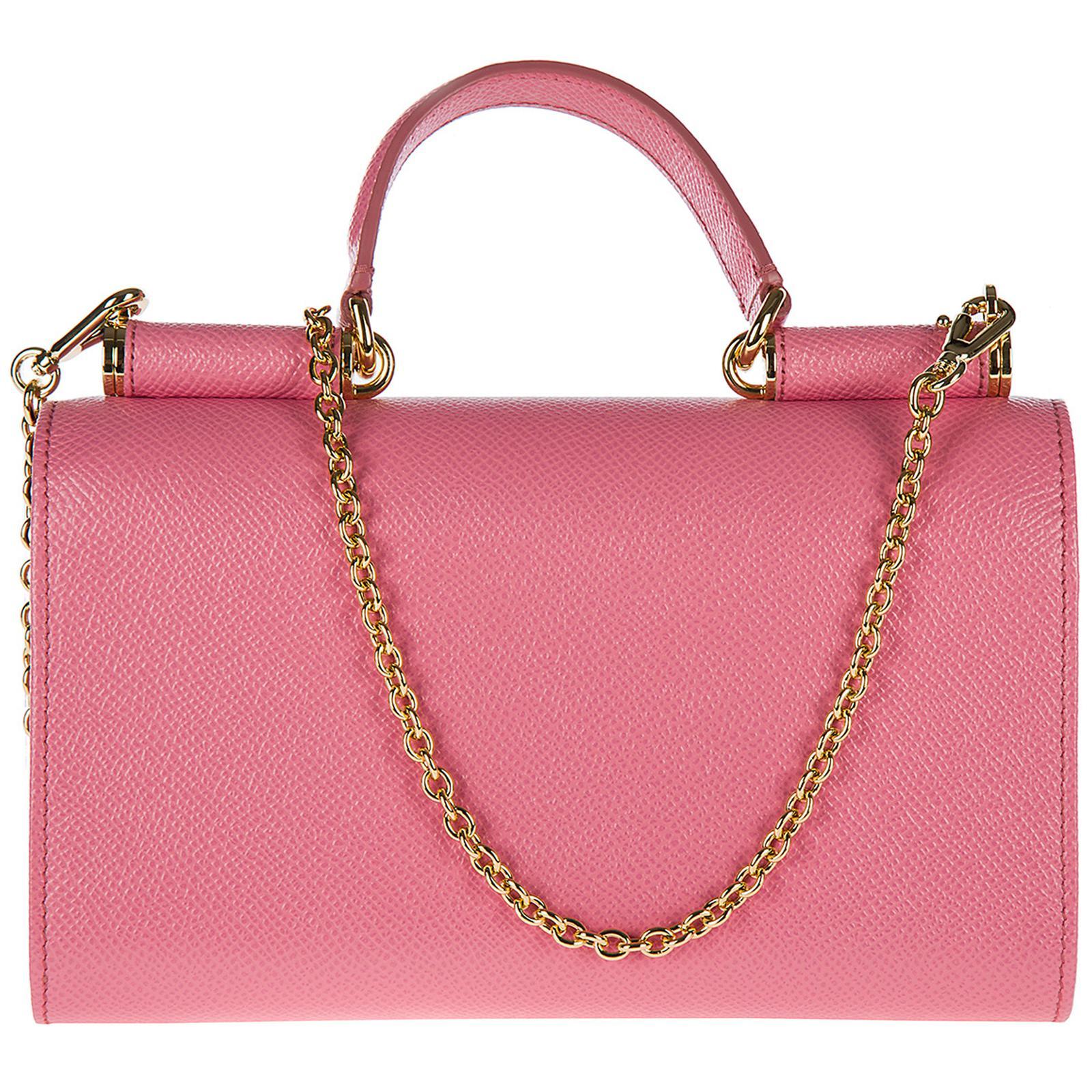 ... Mini Von Bag In Printed Dauphine Leather  size 40 5fcc0 daec0 Lyst - Dolce  Gabbana Leather Clutch With Shoulder Strap Han 5b0dc2cda2830