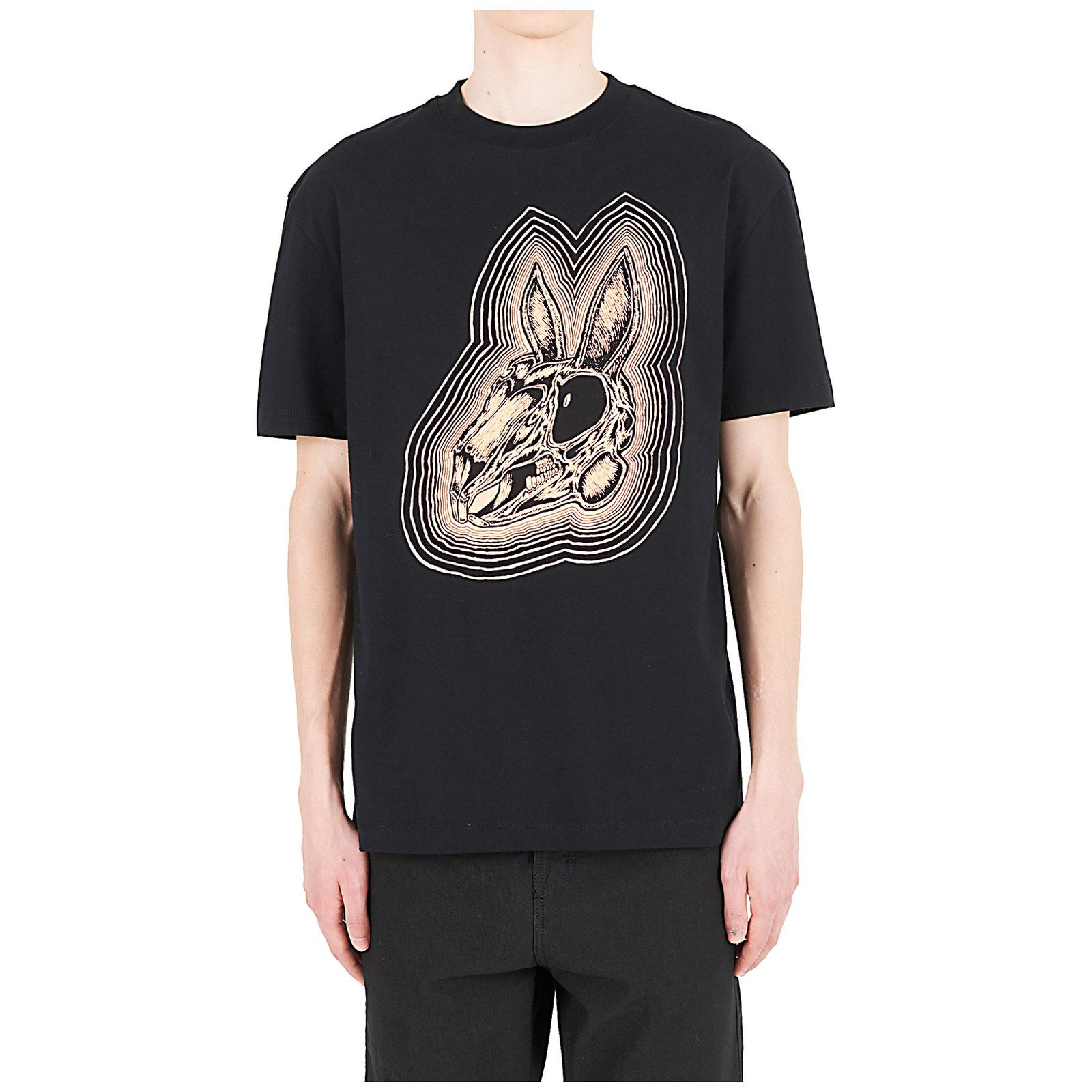 ae144e4a1 McQ Short Sleeve T-shirt Crew Neckline Jumper Rabbit in Black for ...