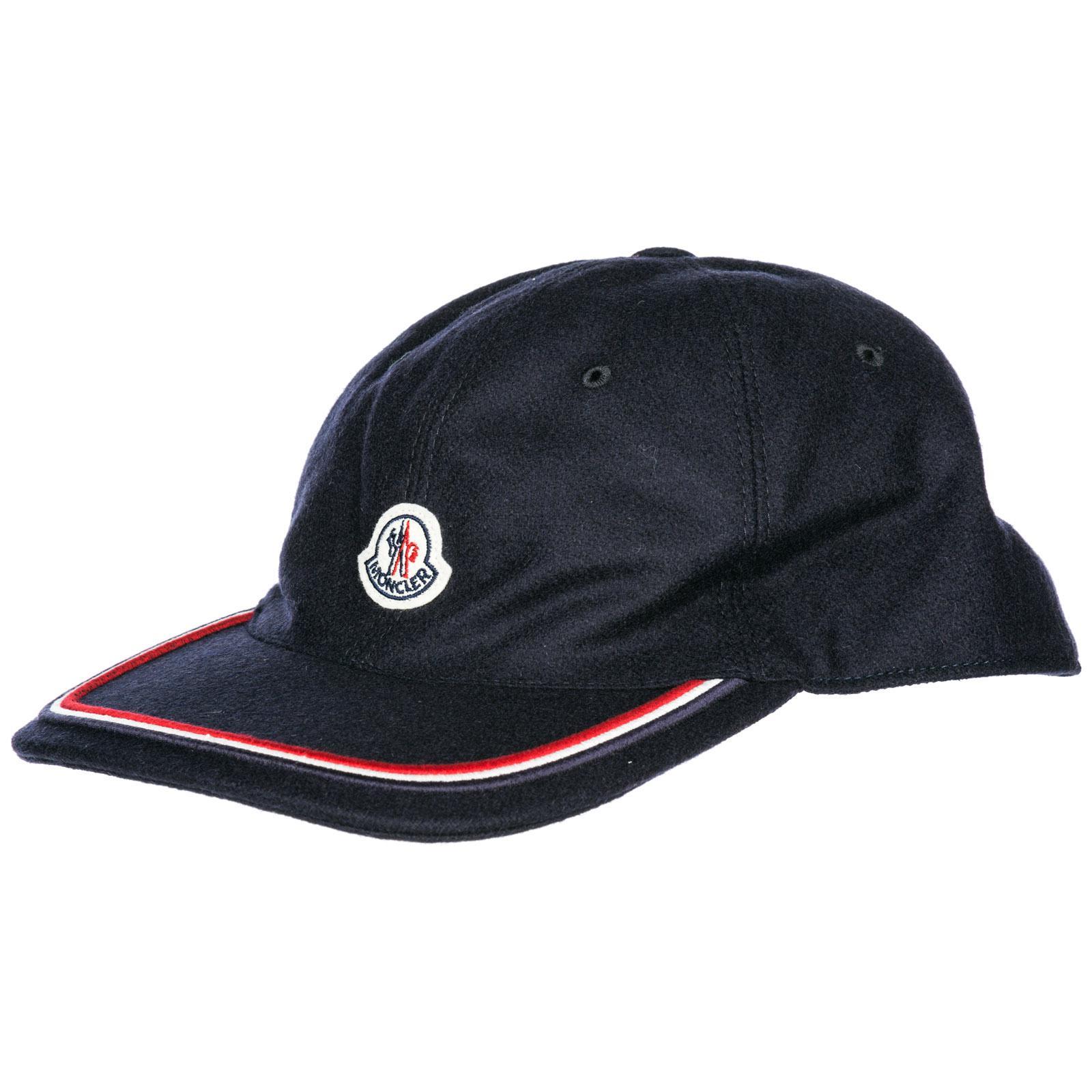 8a40f6b5089 Lyst - Moncler Adjustable Cotton Hat Baseball Cap in Blue for Men ...