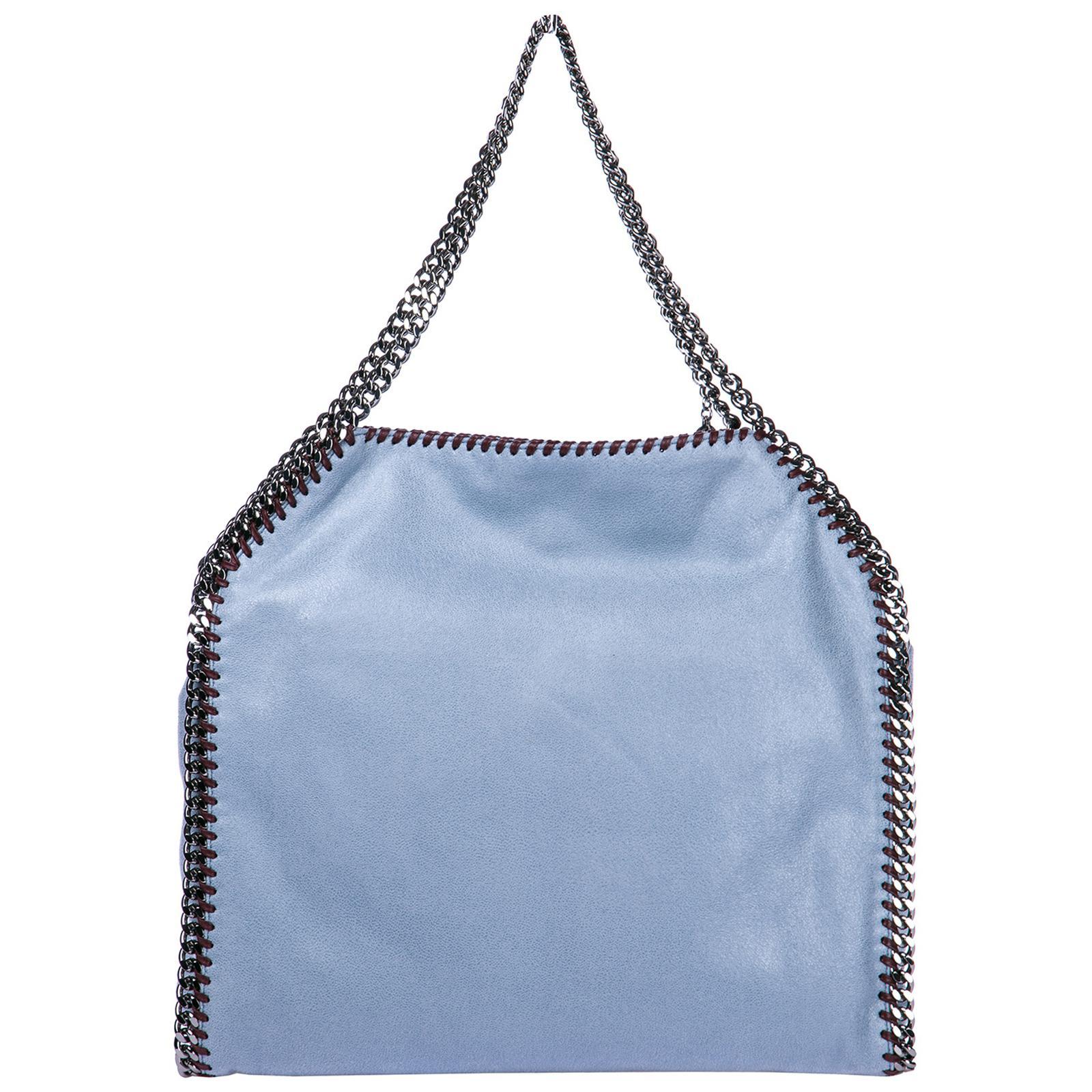 ee1ab1dc5cdf Stella McCartney - Blue Shoulder Bag Falabella Small Tote shaggy Deer -  Lyst. View fullscreen