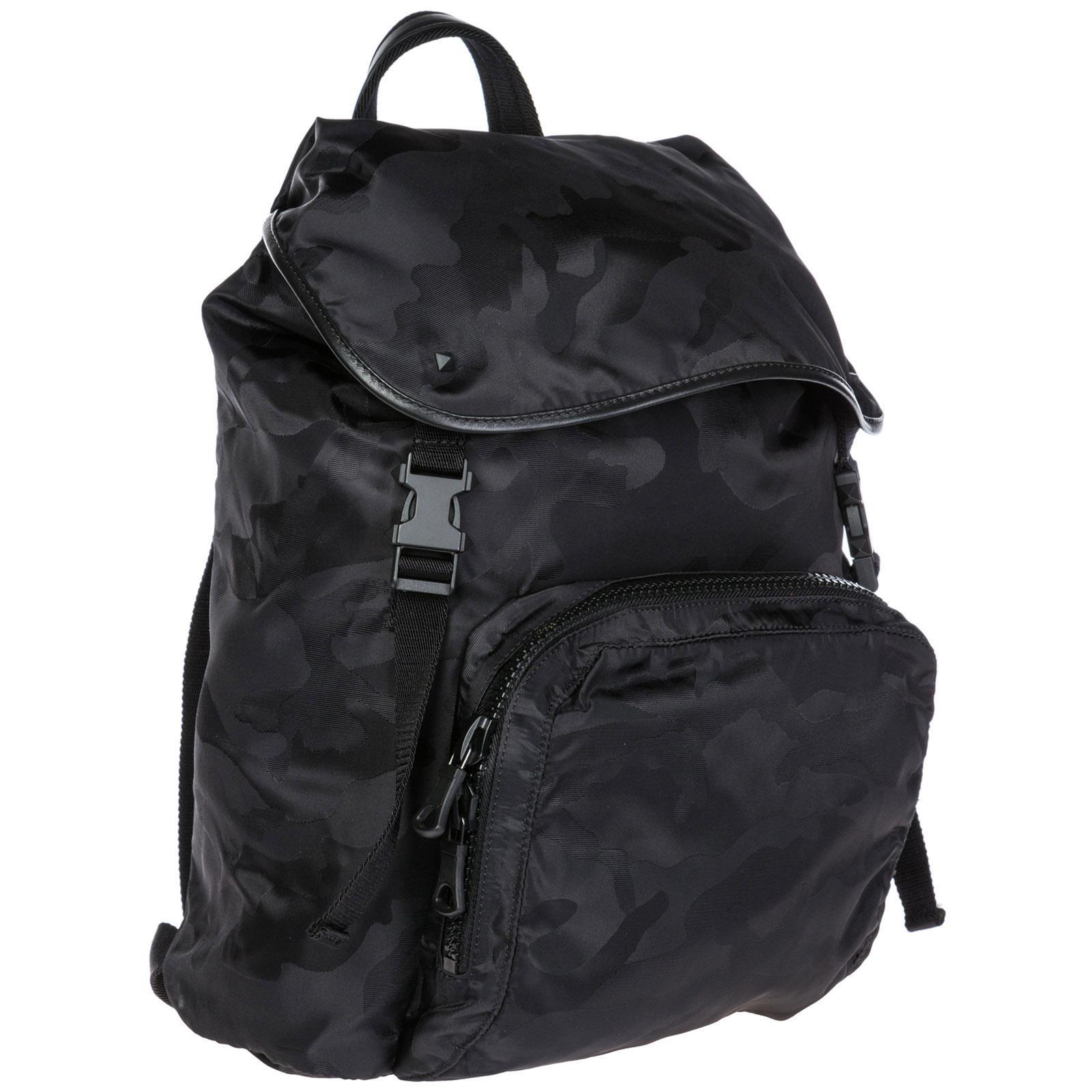 c103ebe0be Valentino Nylon Rucksack Backpack Travel in Black for Men - Lyst