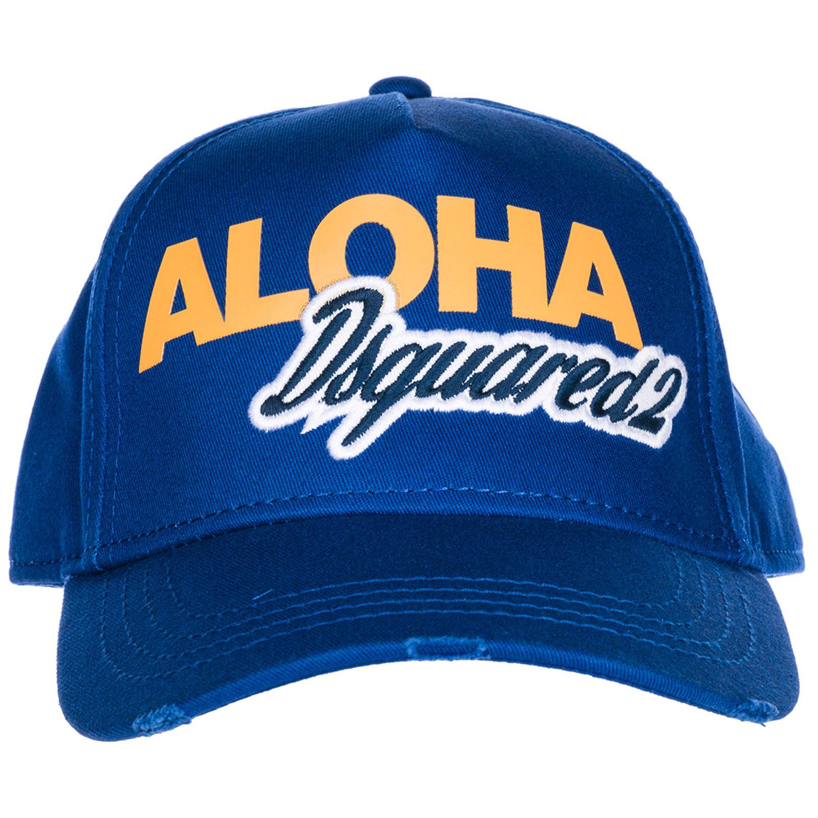 bee6c8542392e DSquared² Adjustable Cotton Hat Baseball Cap Aloha Baseball in Blue ...