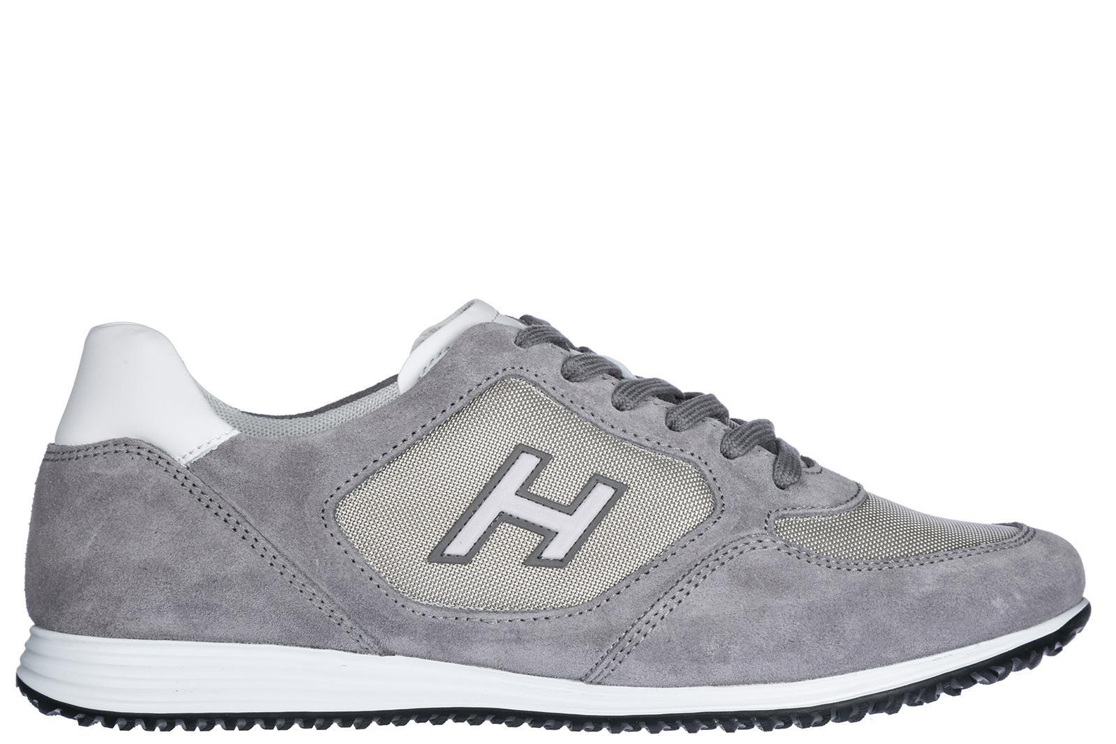 Sneaker H205 suede Logo light grey Hogan Zh4yG5NuhU