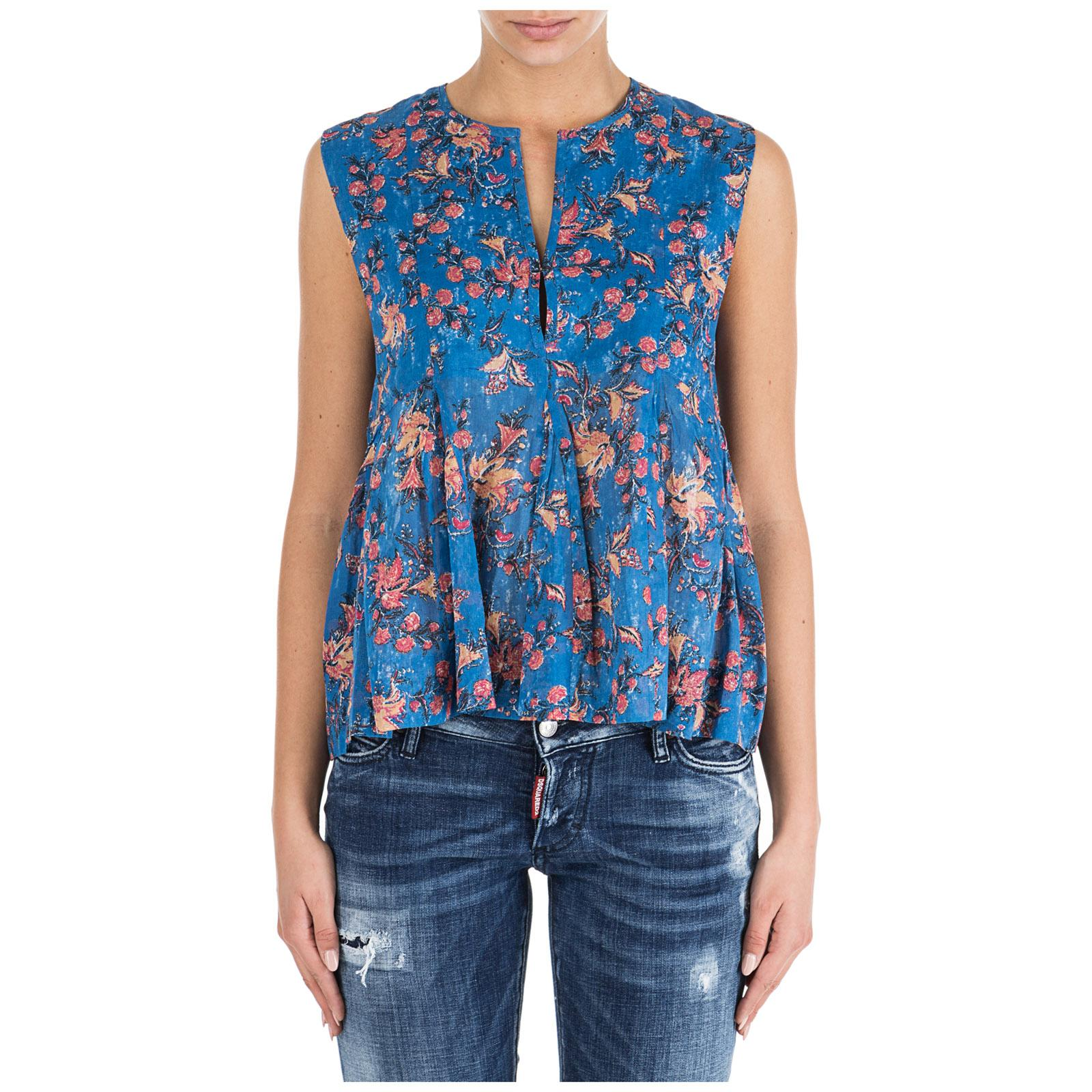 08dfd7e99b7 Étoile Isabel Marant. Women's Erney Sleeveless Floral Blouse - Blue ...