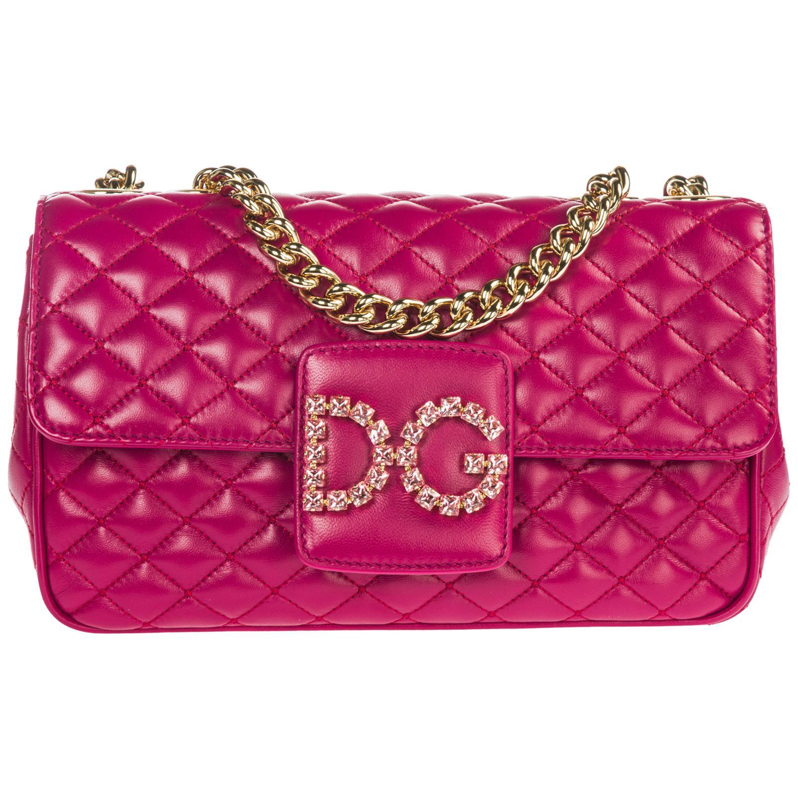 Lyst - Dolce   Gabbana Leather Shoulder Bag Dg Millennials in Pink 546a98ca0e9d0