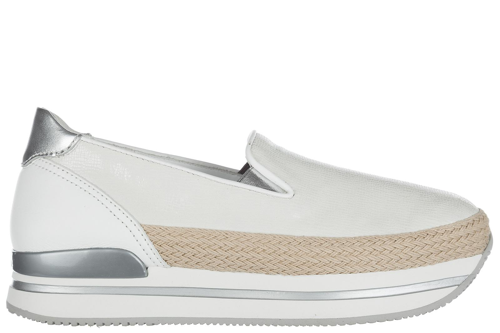 Hogan. Women's White Leather Slip On Trainers H222