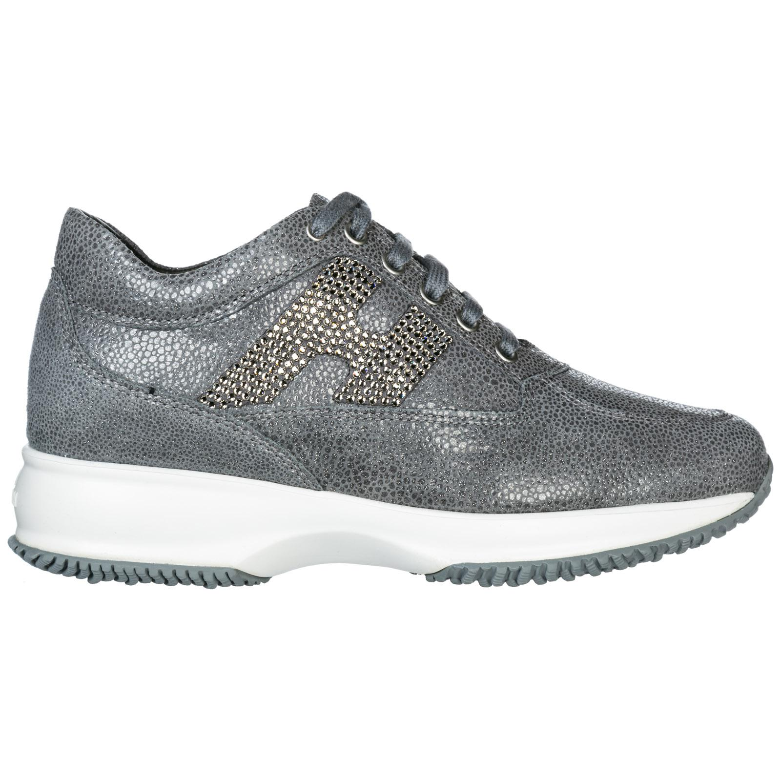 Hogan Shoes Leather Trainers Sneakers in Gray - Lyst 40c3a07d235
