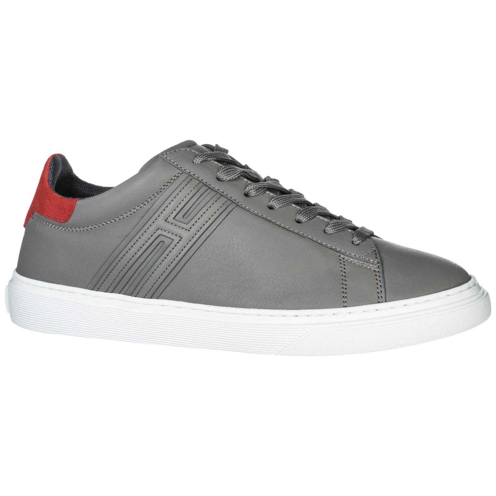 Lyst - Hogan Shoes Leather Trainers Sneakers H365 in Gray for Men cc2683710ce